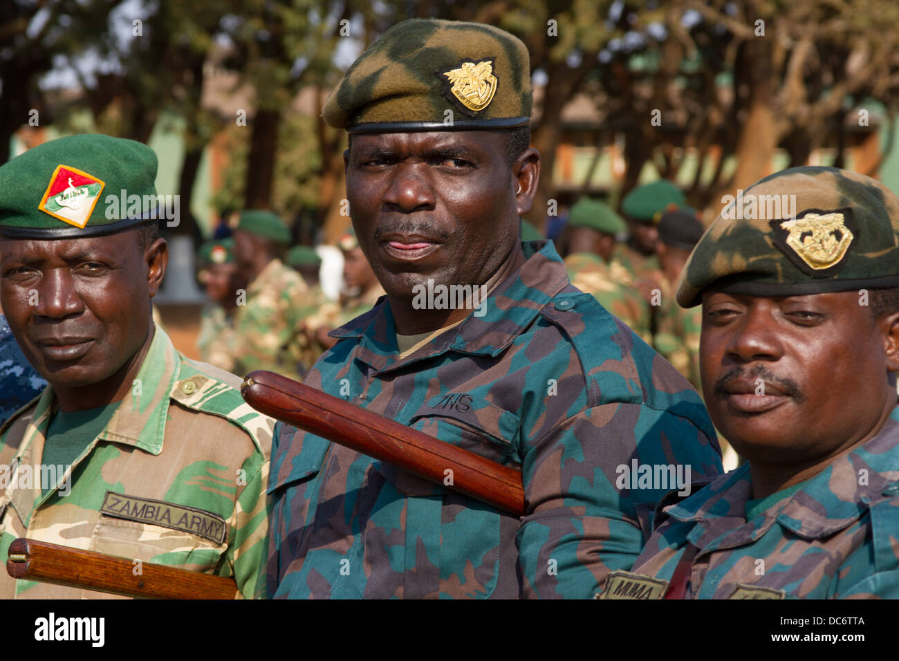 African military leaders from more than 40 nations gathered for an opening ceremony of Africa Endeavor August 7, - Stock Image