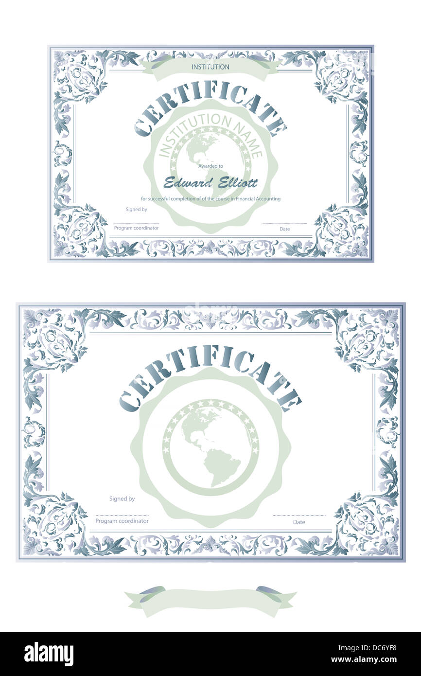 Certificate Of Merit Illustration Stock Photos & Certificate Of ...