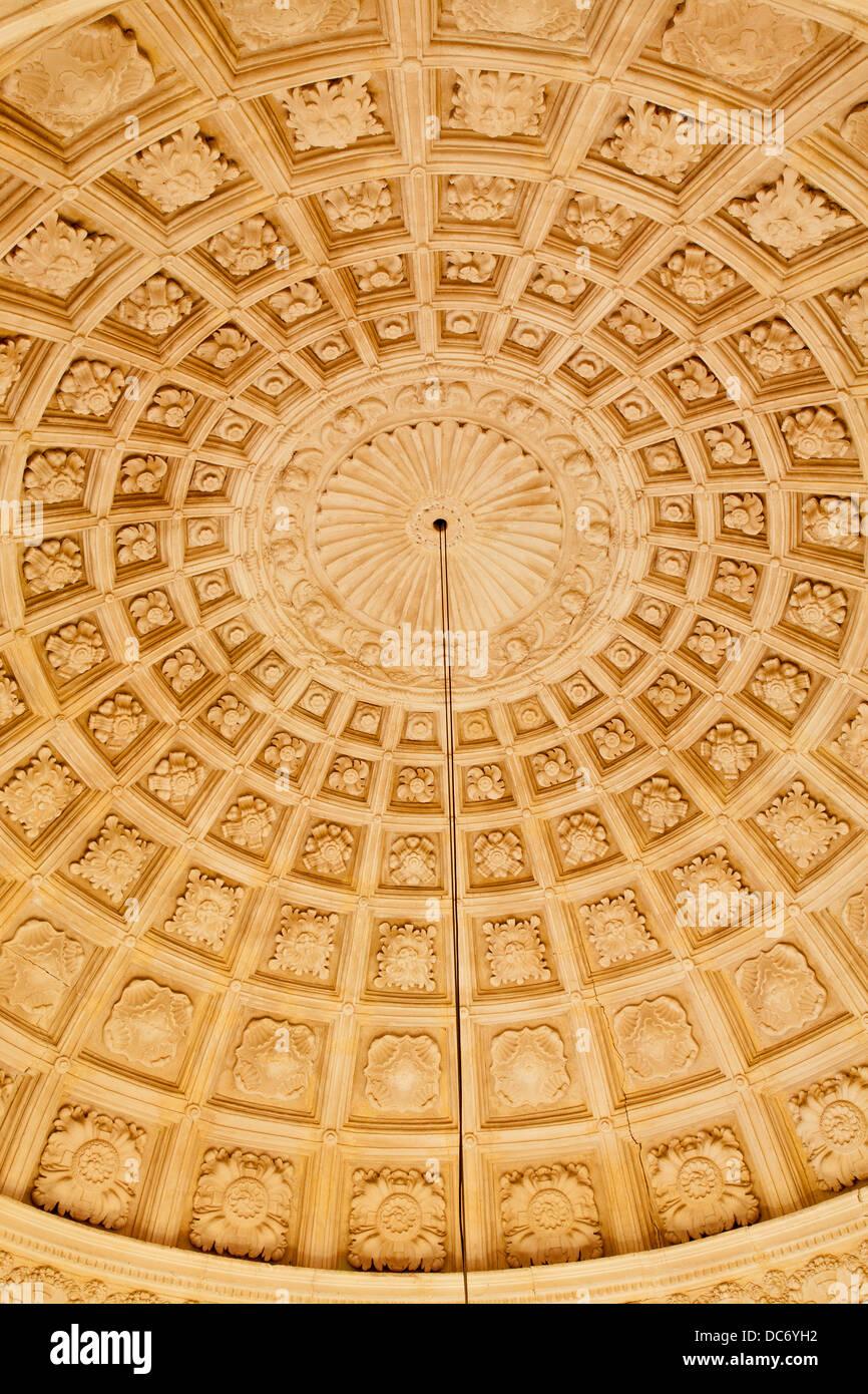 TOLEDO - MARCH 8: Ceiling of stairs in Monasterio San Juan de los Reyes or Monastery of Saint John of the Kings - Stock Image