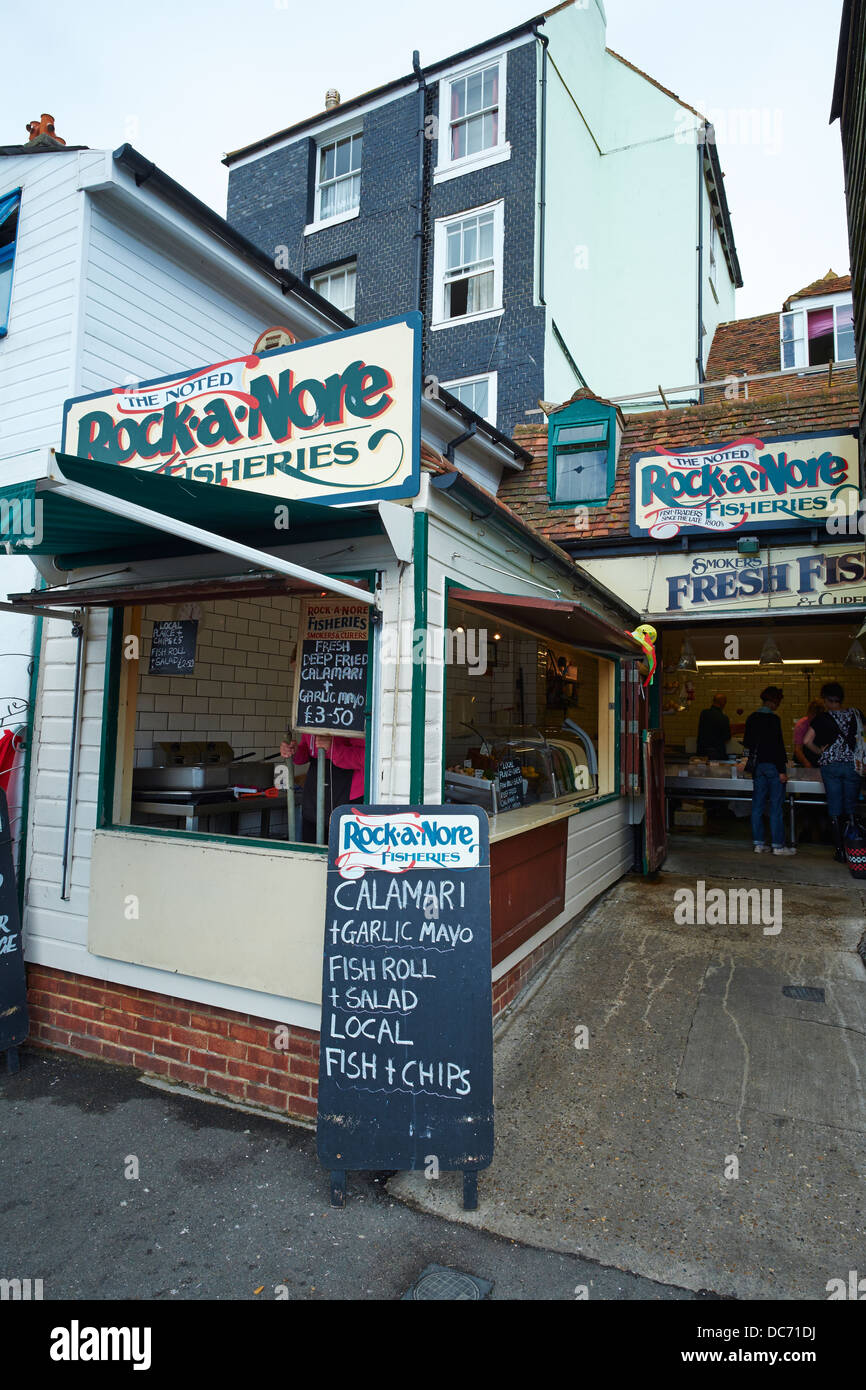 Rock-A-Nore Fisheries, Rock-A-Nore Road Hastings Sussex - Stock Image