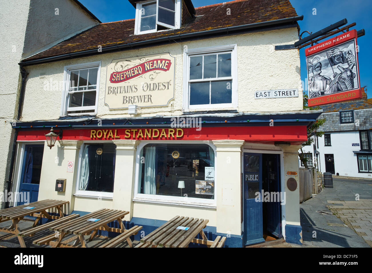 The Royal Standard a Shepherd Neame Public House East Street Hastings Sussex UK - Stock Image