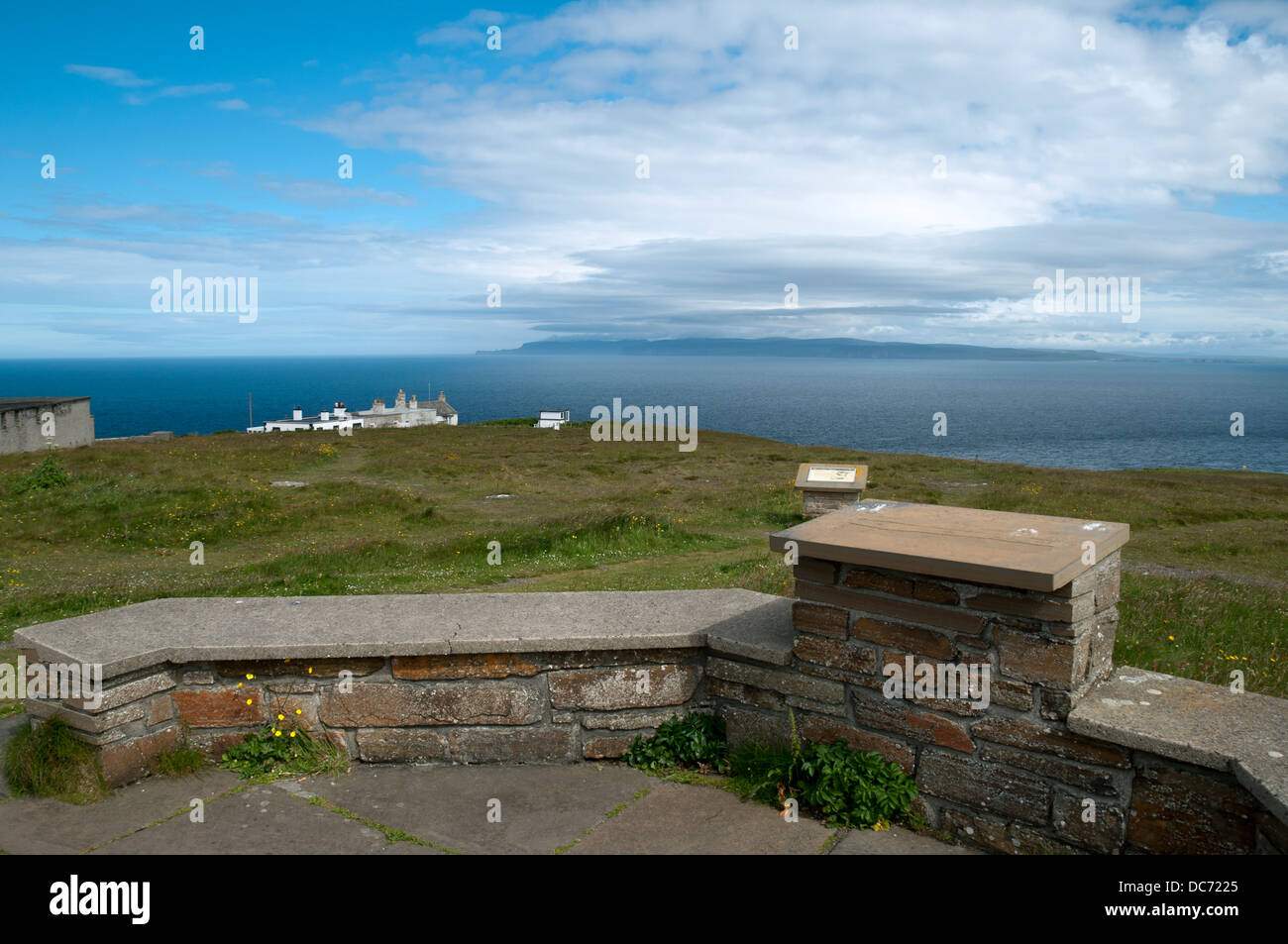 Hoy in the Orkney Isles from Dunnet Head, the most northerly point of the British mainland.  Caithness, Scotland, - Stock Image