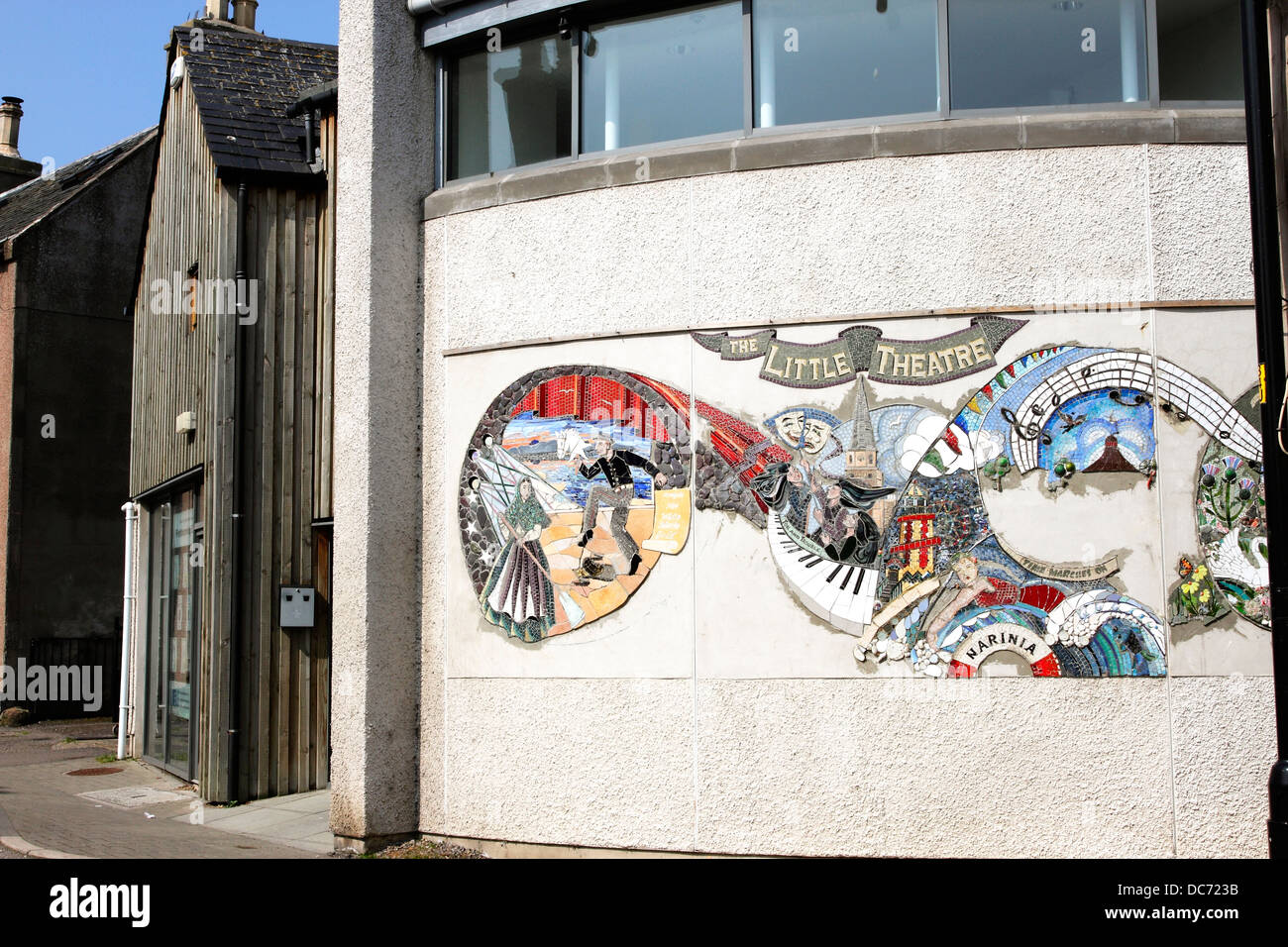 The Little Theatre in Nairn in the Highlands of Scotland. - Stock Image