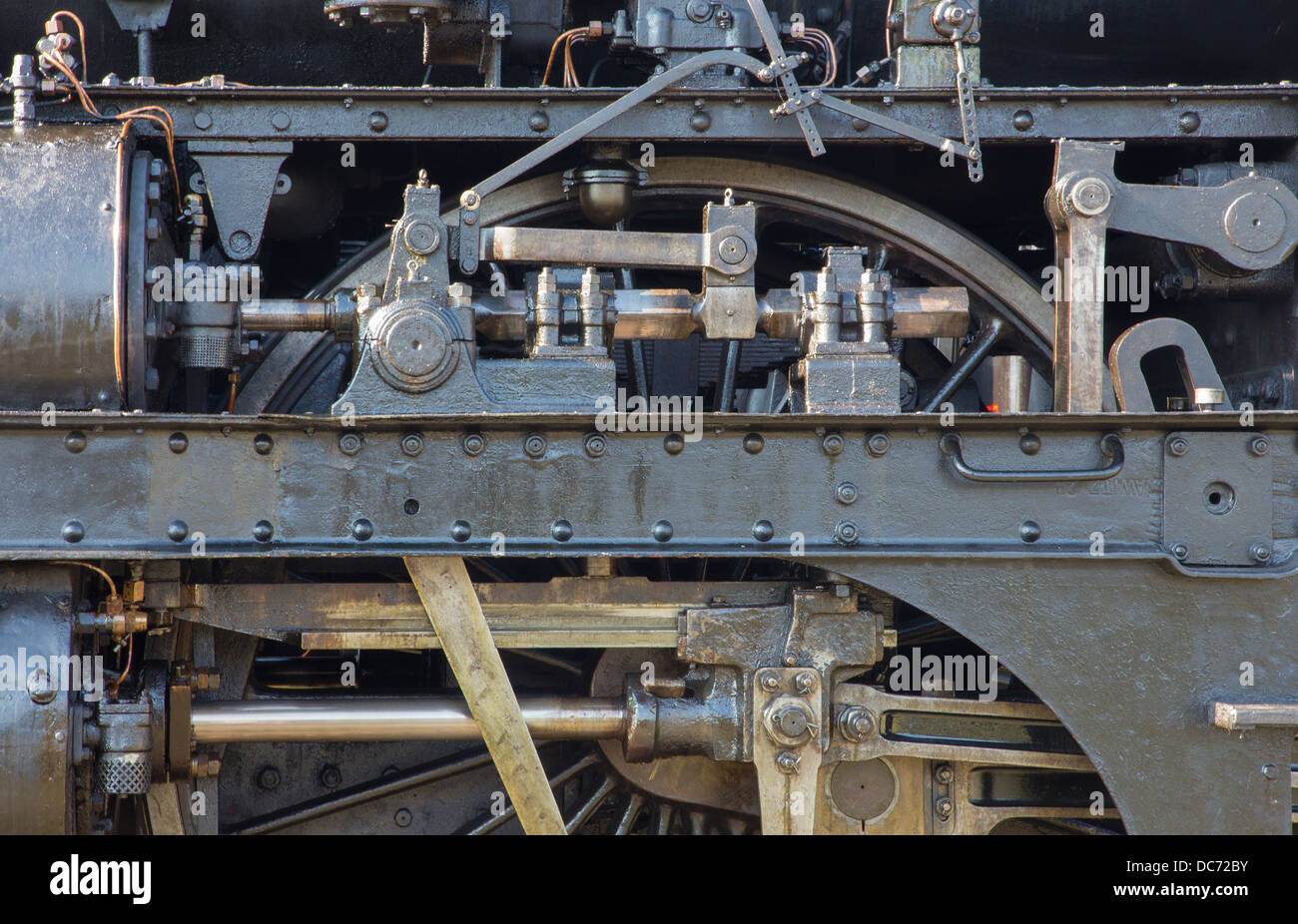 detail of old steam locomotive - Stock Image