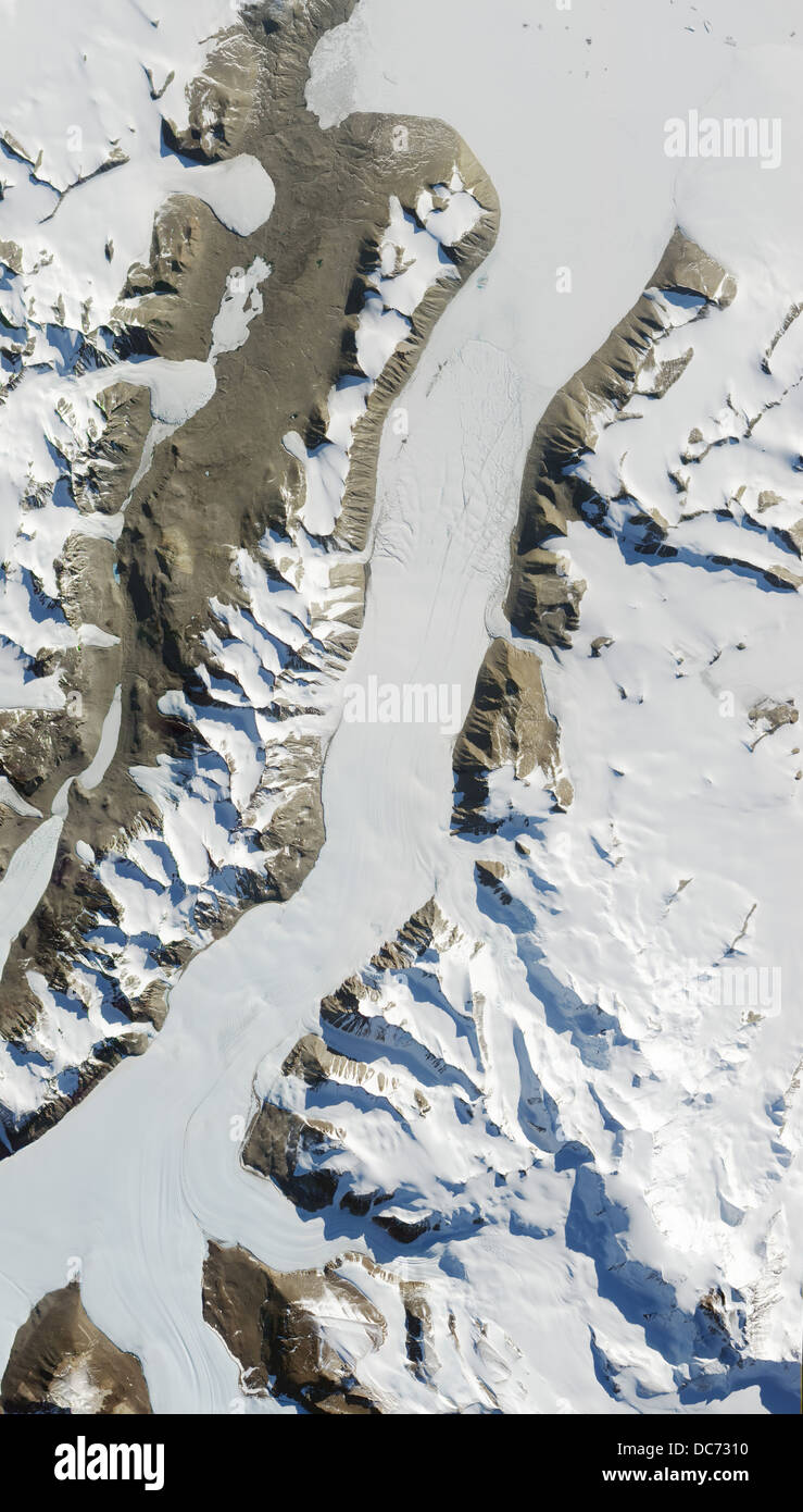Ferrar Glacier,  Antartica - Stock Image