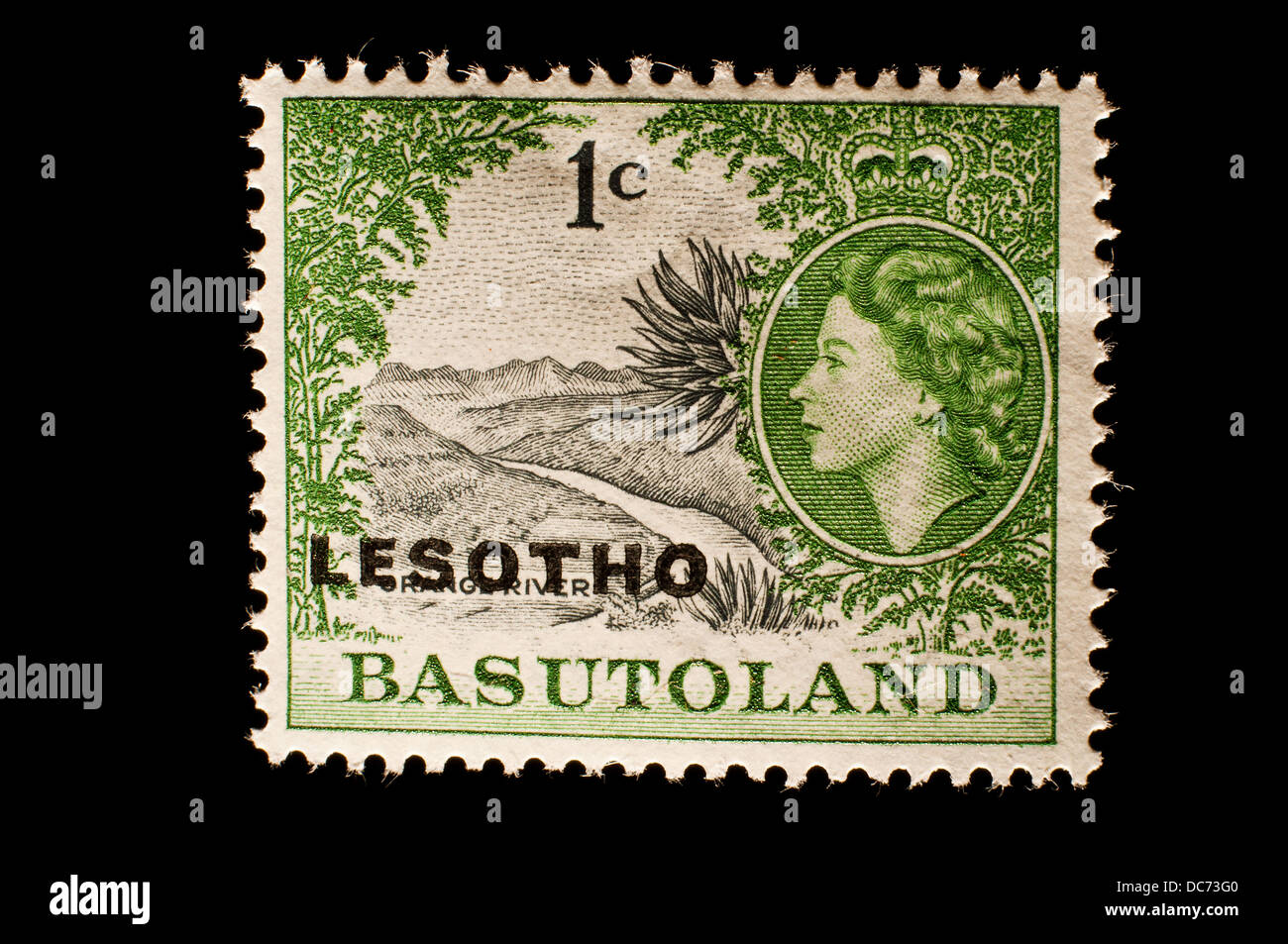 Lesotho Basutoland postage stamp - Stock Image