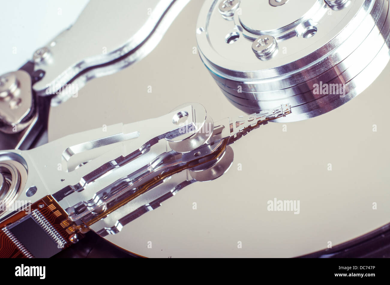 An image of hard drive close up - Stock Image