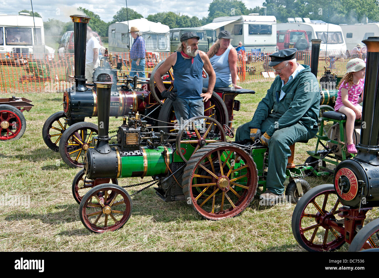 Miniature steam traction engines at a Steam Fair Stock Photo