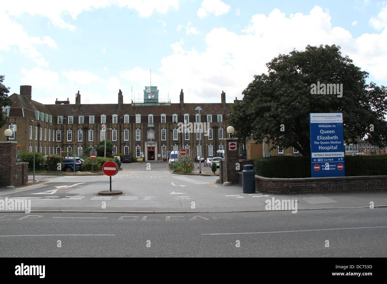 Queen Elizabeth The Queen Mother Hospital in Margate, Kent. - Stock Image