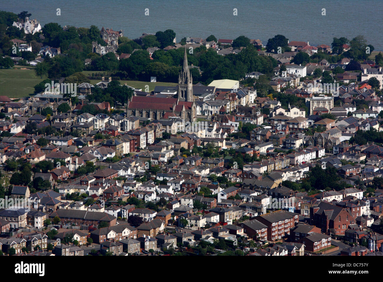 Aerial view of Ryde, Isle of Wight - Stock Image