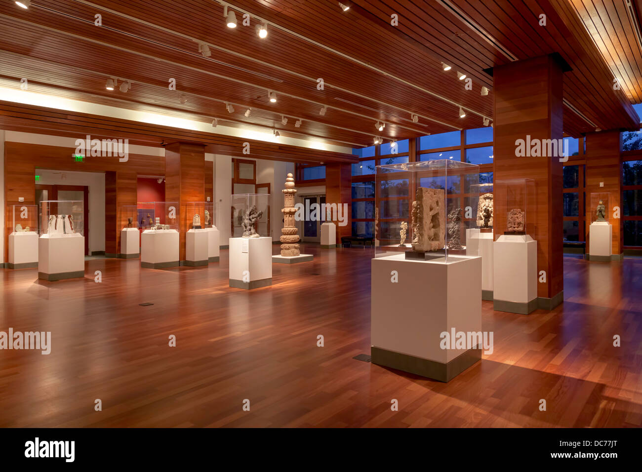 Artifacts, sculptures and antiquities on display displayed in Cofrin Asian Art Exhibit in the Harn Museum. Stock Photo