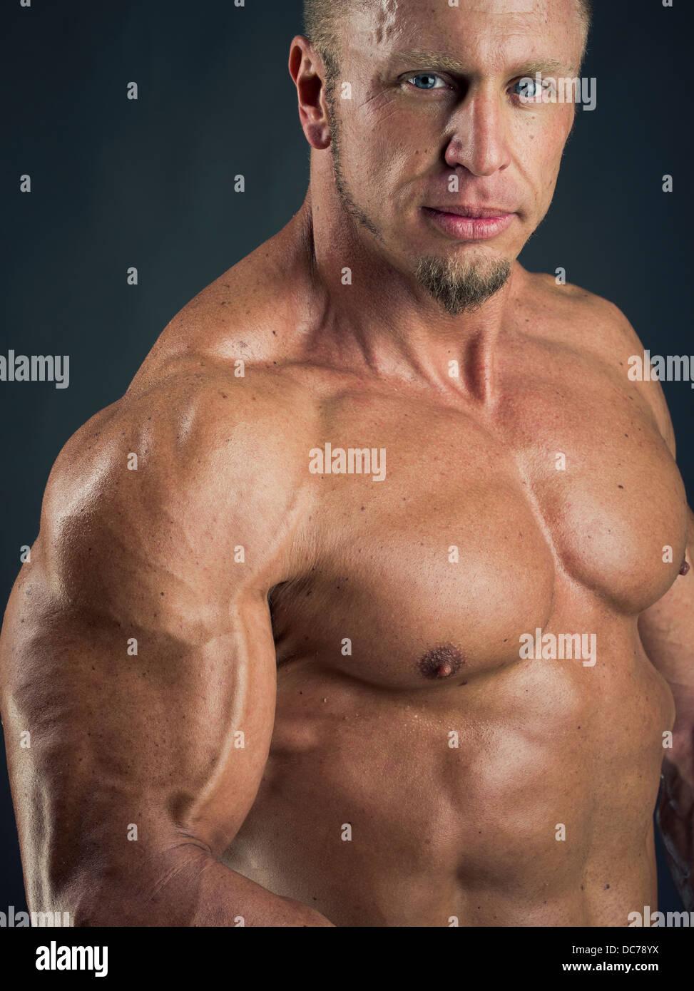 Male bodybuilder - Stock Image
