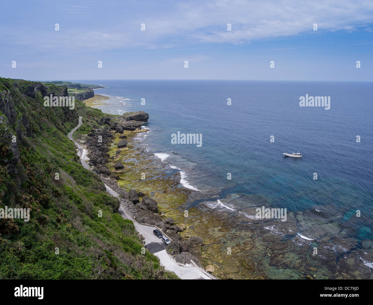 Wajee Viewpoint, Ie Island, Okinawa, Japan Stock Photo