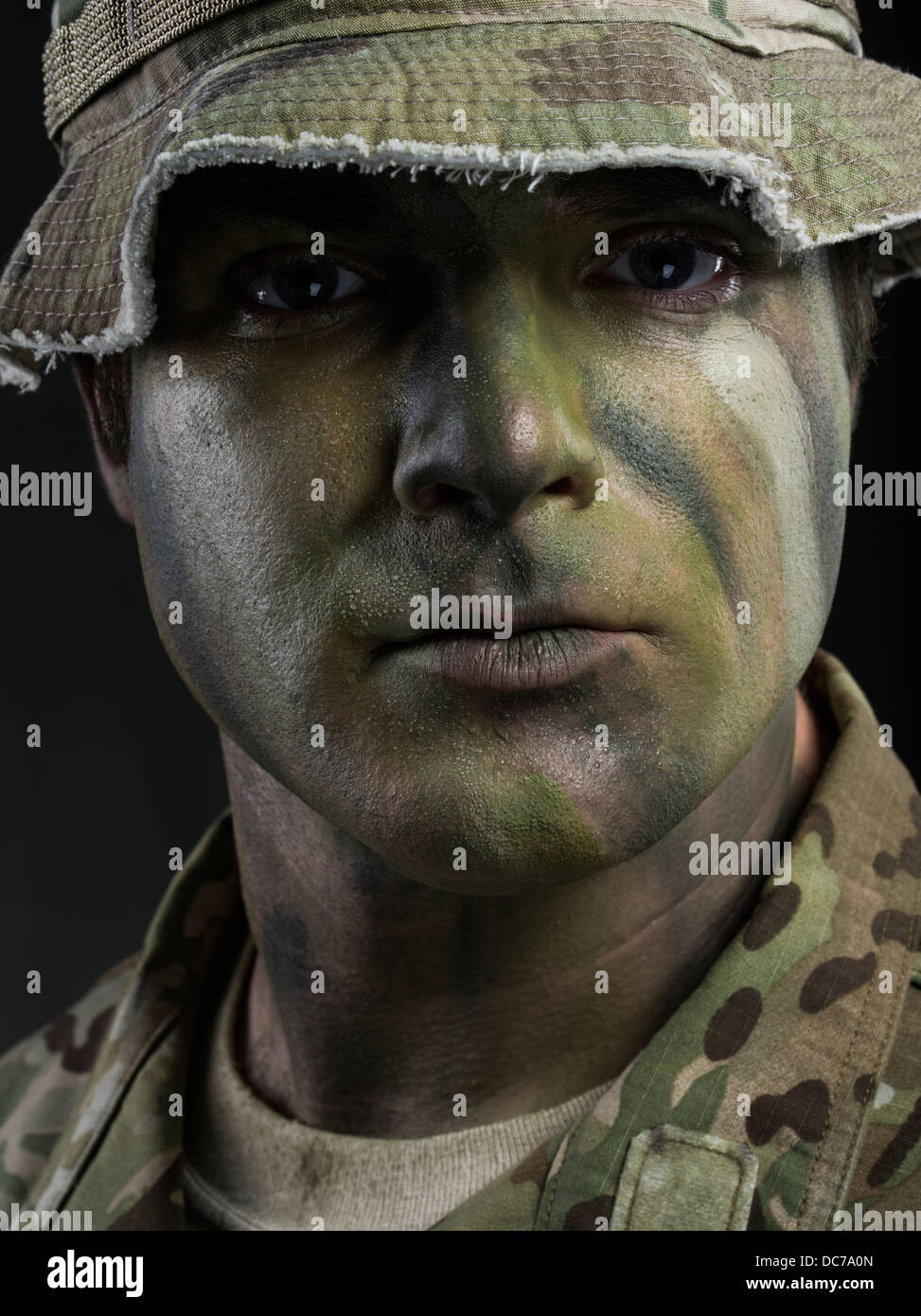 Portrait of a U.S. Army Special Forces Green Beret soldier Stock Photo