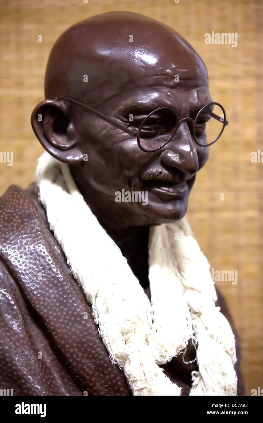 Mahatma Gandhi,Bapu,Father-of-the-Nation,India,Mani Bhawan,Gandhi Memorial,Mumbai,India - Stock Image