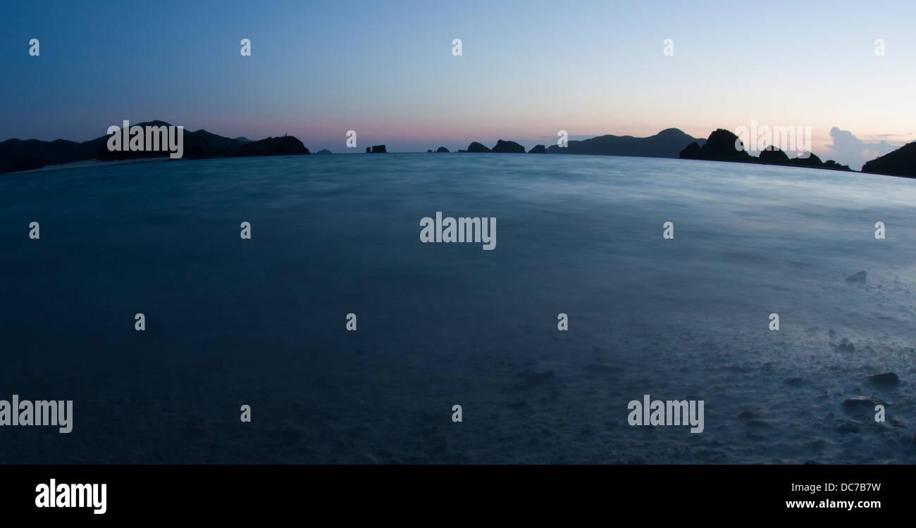 Dusk Oceanscape, Zamami Island, Okinawa, Japan - Stock Image