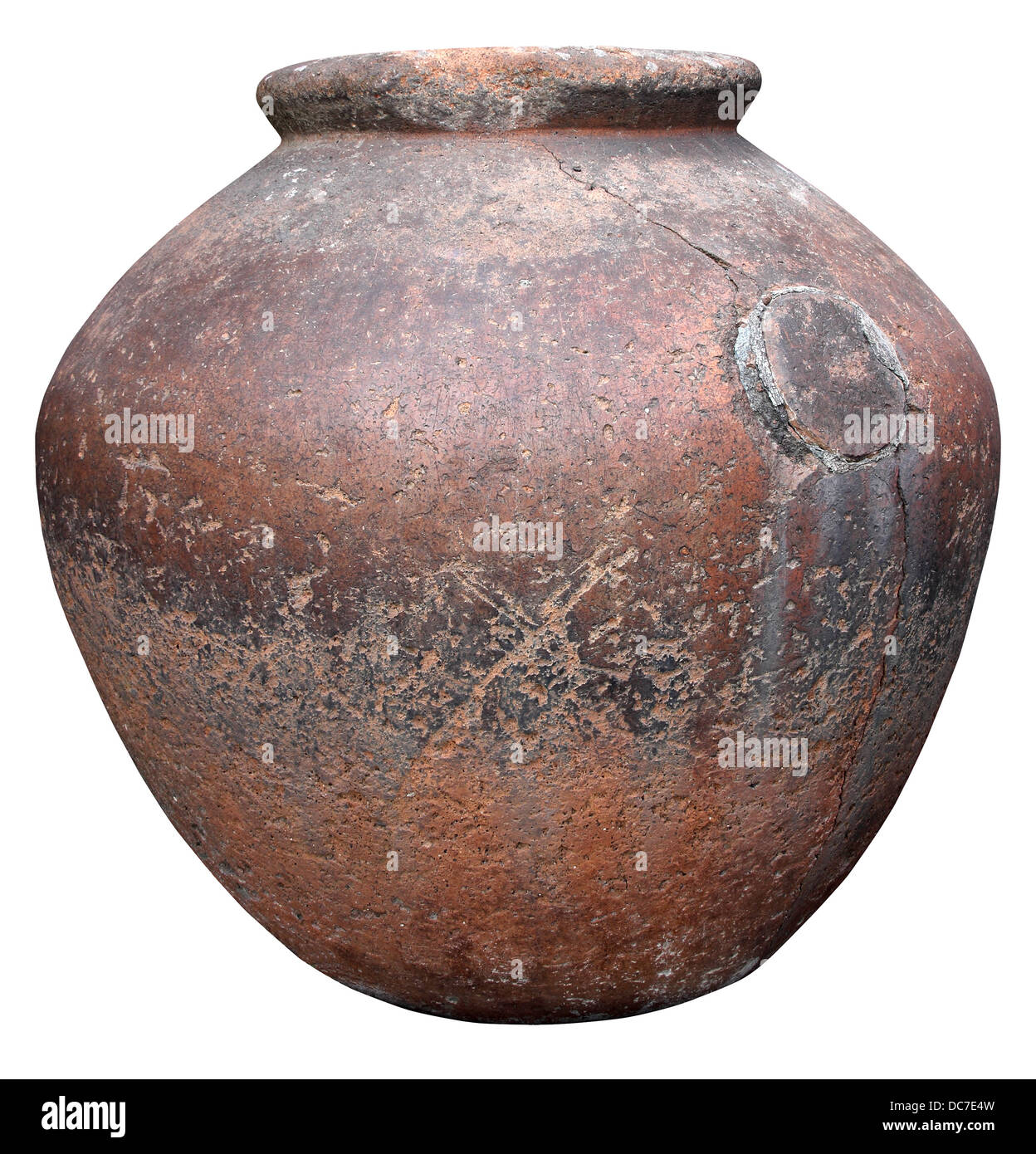 The ancient Roman clay pots for storing wine - Stock Image