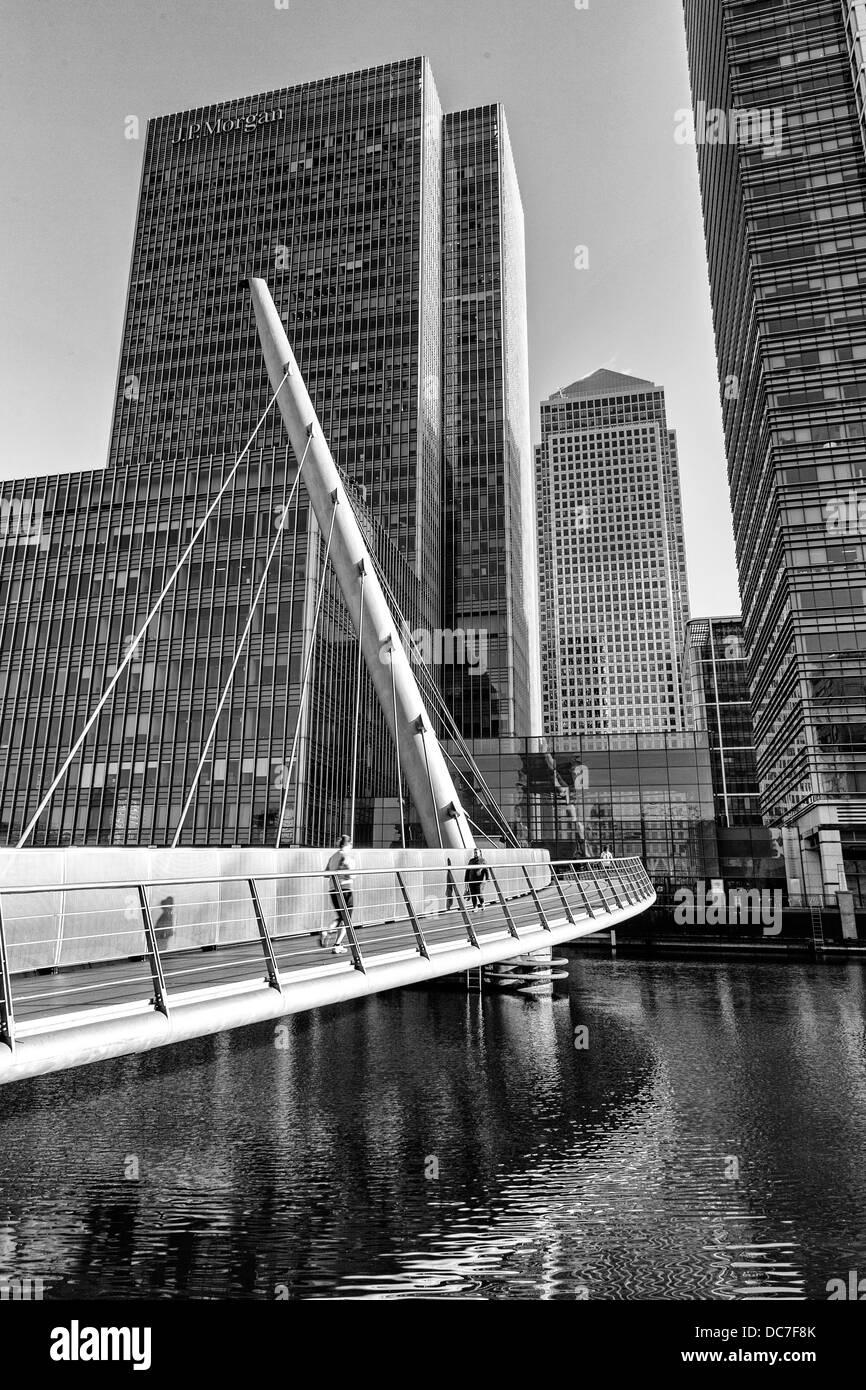 Footbridge Across South Dock - Stock Image