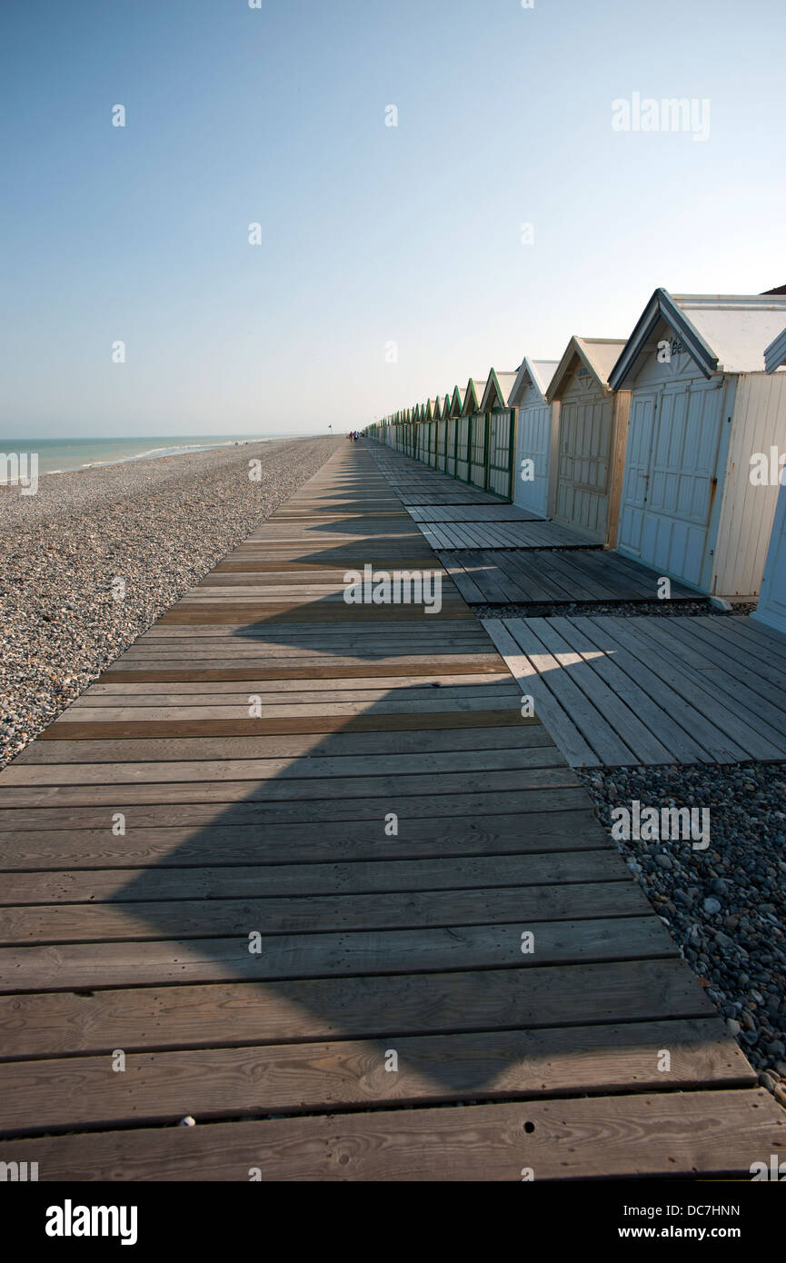 Cayeux-sur-Mer, Somme department, Picardy or Picardie, France. July 2013 Popular holiday destination on north coast Stock Photo