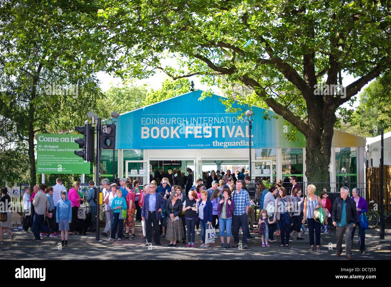 Edinburgh, UK. 11th Aug, 2013. The Edinburgh International Book Festival. Credit: Steven Scott Taylor/ Alamy Live - Stock Image