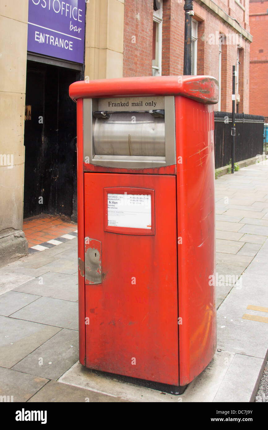 Franked mail only Royal Mail post box  used exclusively by businesses for the despatch of pre-paid postage (franked) - Stock Image