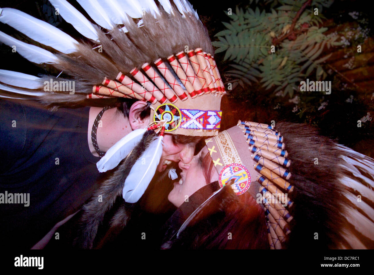 Native american head dress - Stock Image