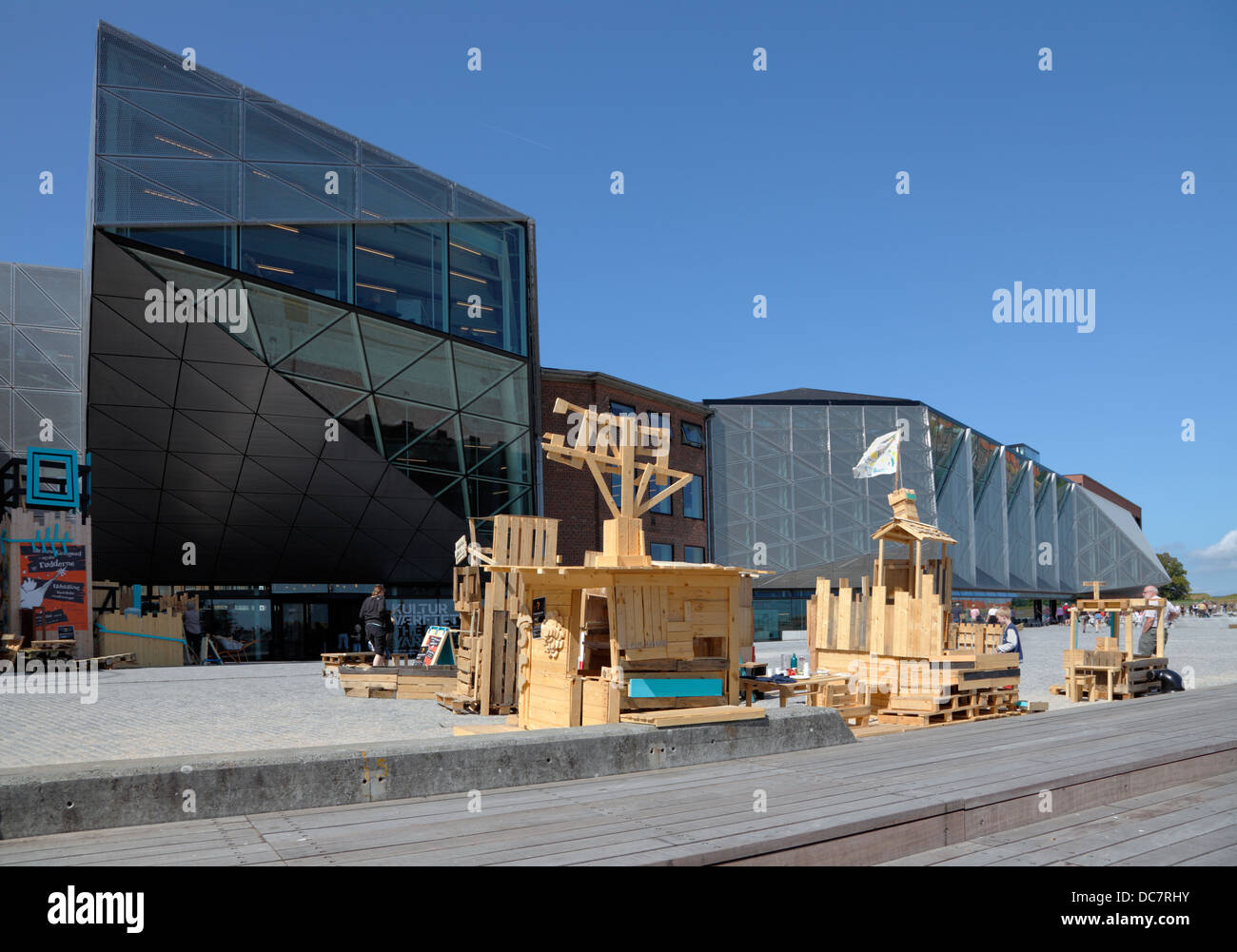 Areas and buildings of the old shipyard in Elsinore have turned into The Culture Yard in Elsinore, Denmark. Adventure - Stock Image