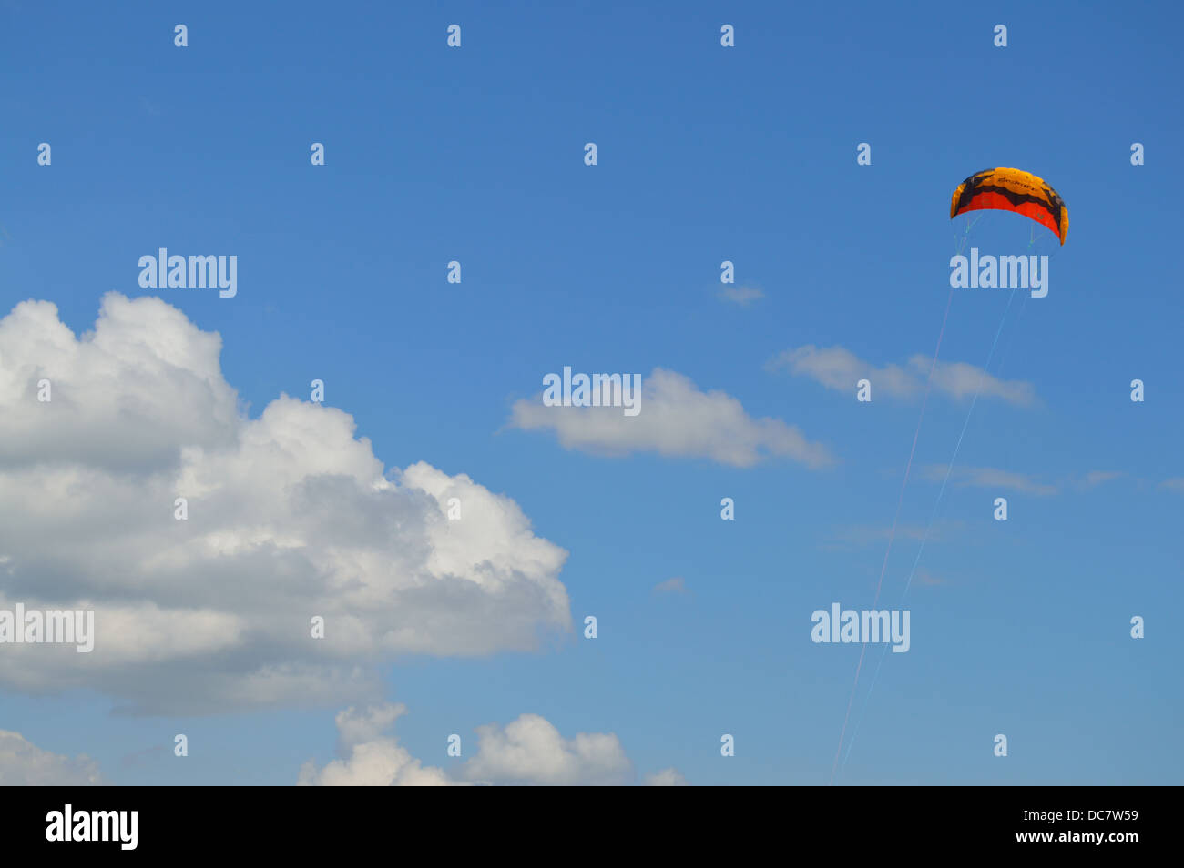 a kite flying - Stock Image