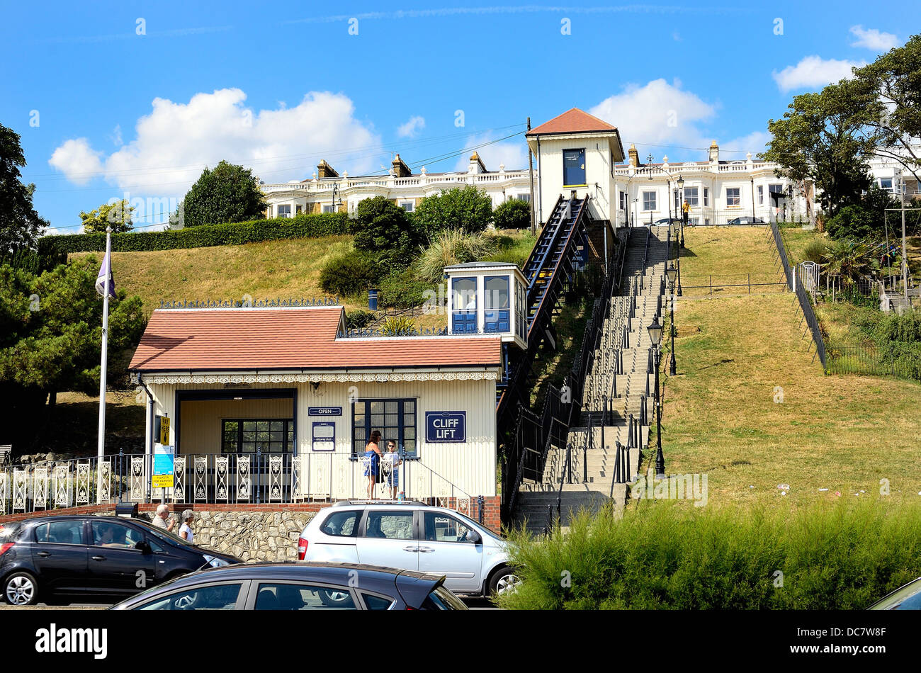 Cliff Lift  on the seafront at Southend on Sea Essex - Stock Image