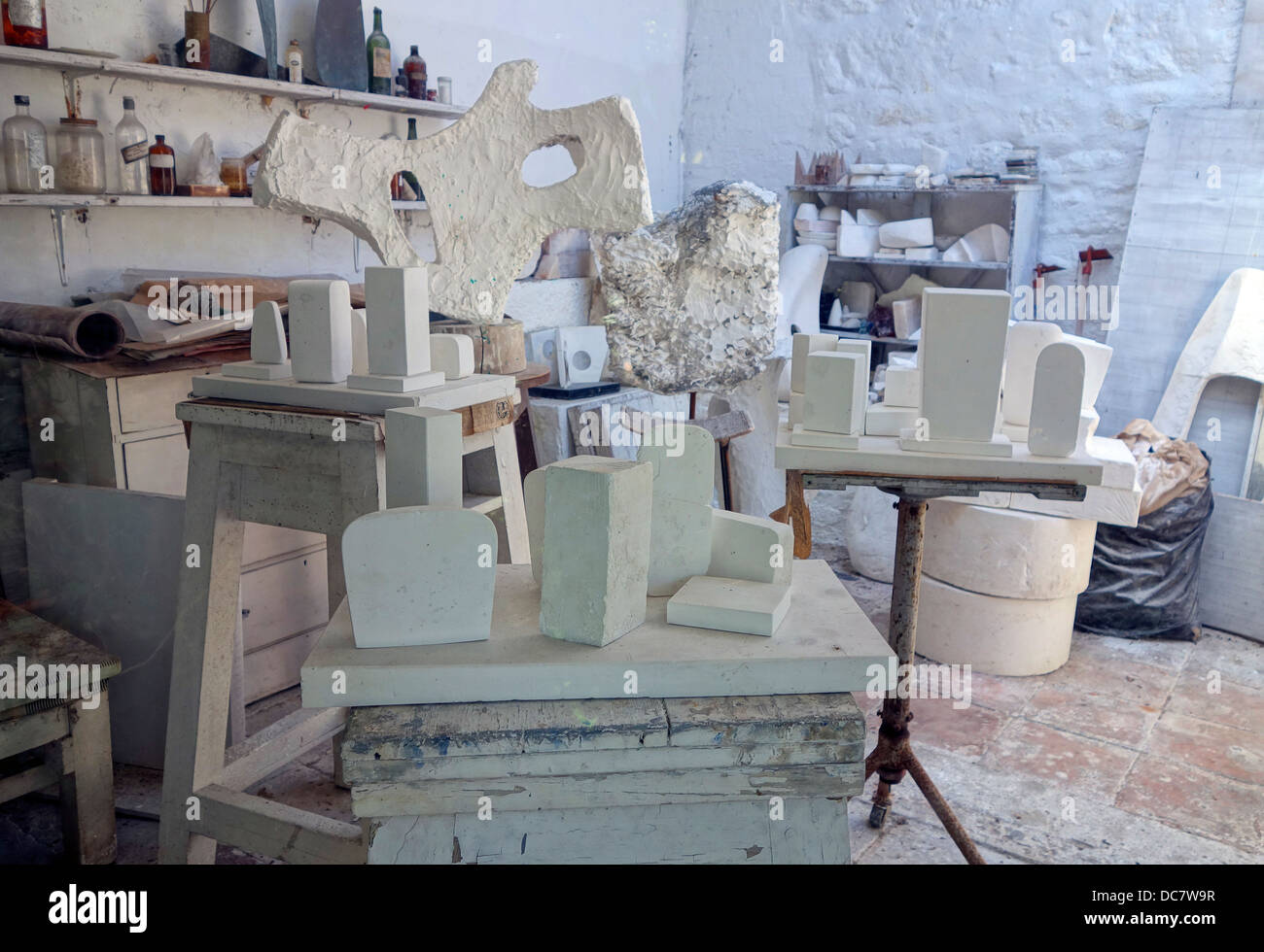 The studio at The Barbara Hepworth Museum in St.Ives, Cornwall, UK - Stock Image