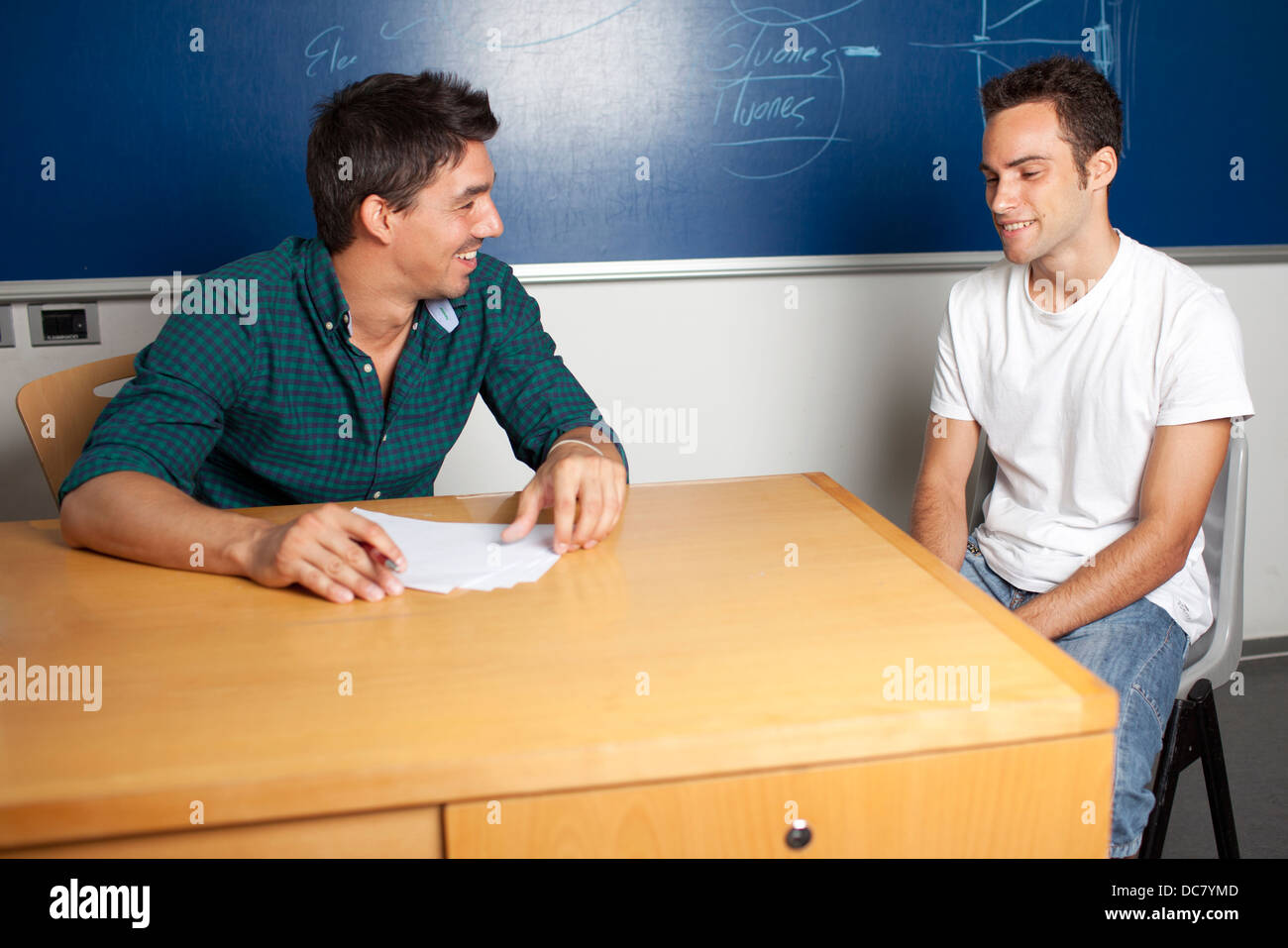 appointment during office hours at university - Stock Image