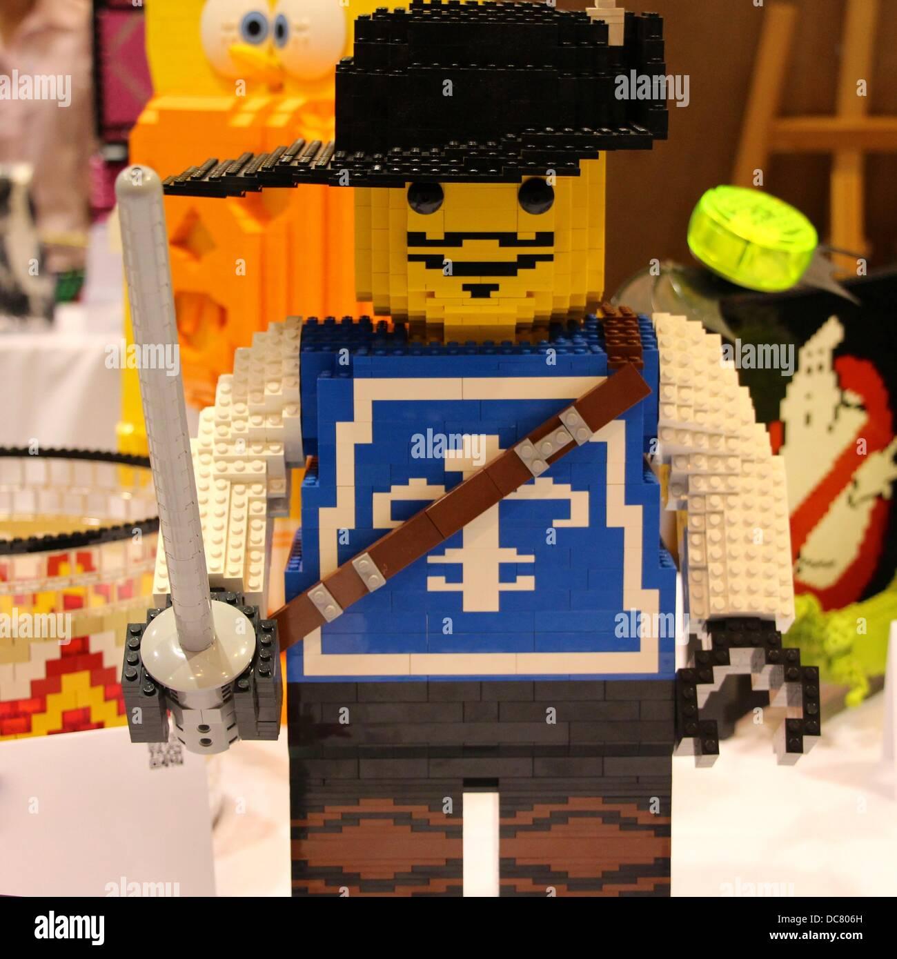 Santa Clara Convention Center, California USA 11th August, 2013 Bricks By The Bay annual Lego convention promotes Stock Photo