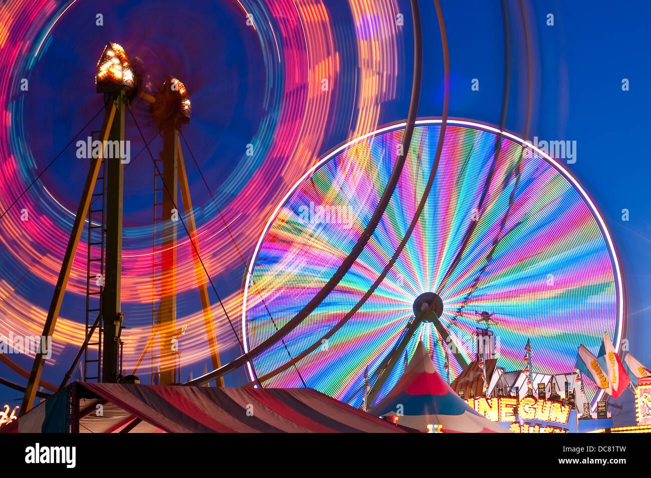Evergreen State Fair ferris wheel - Stock Image