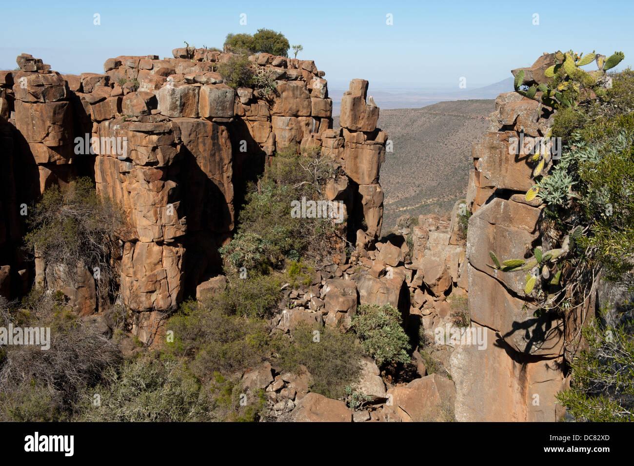 Valley of Desolation, Graaff-Reinet, Camdeboo National Park, South Africa - Stock Image
