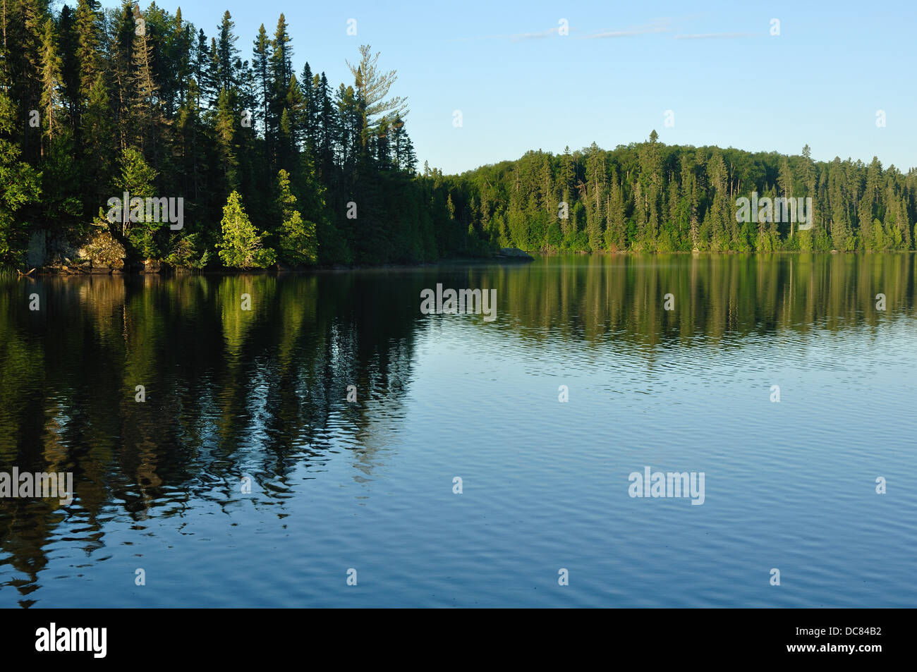 Lake in Boundary Waters Canoe Area, Minnesota, USA - Stock Image