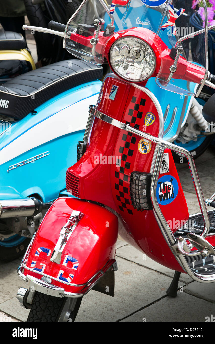 Vespa scooter. Mod Scooter - Stock Image