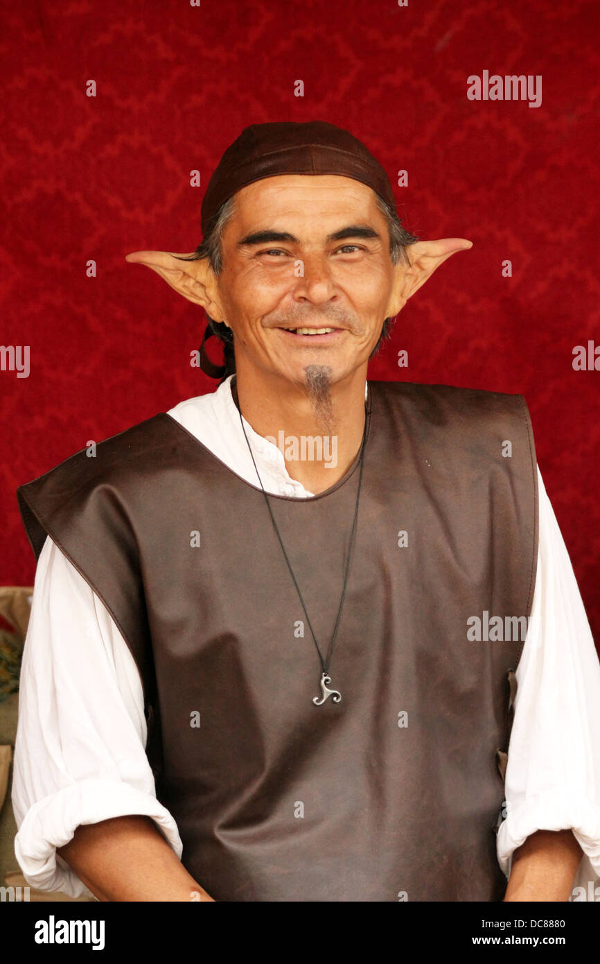 Elf at Medieval Festival in the town of Provins - one of the biggest in Europe  sc 1 st  Alamy & Elf Costume Man Stock Photos u0026 Elf Costume Man Stock Images - Alamy