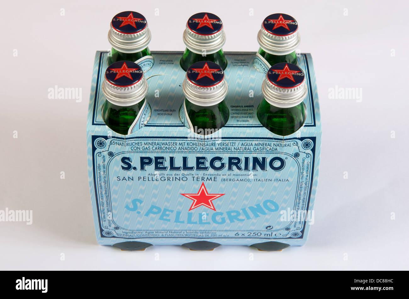San Pellegrino bottled water - Stock Image