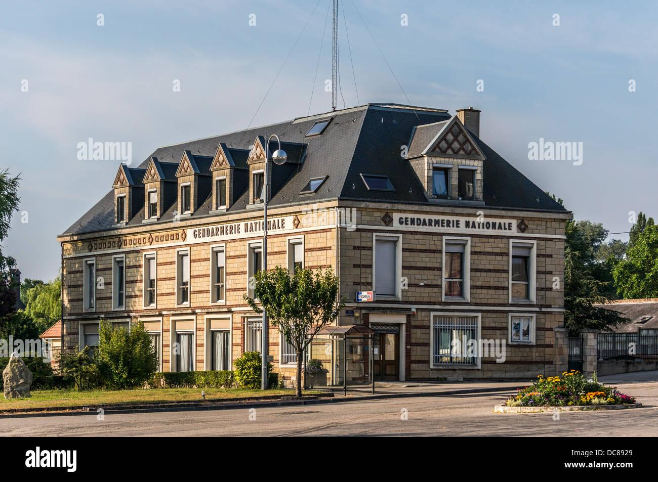 The gendarmerie, La Mailleraye-sur-Seine, Seine-Maritime department, Haute-Normandie region in northern France. - Stock Image