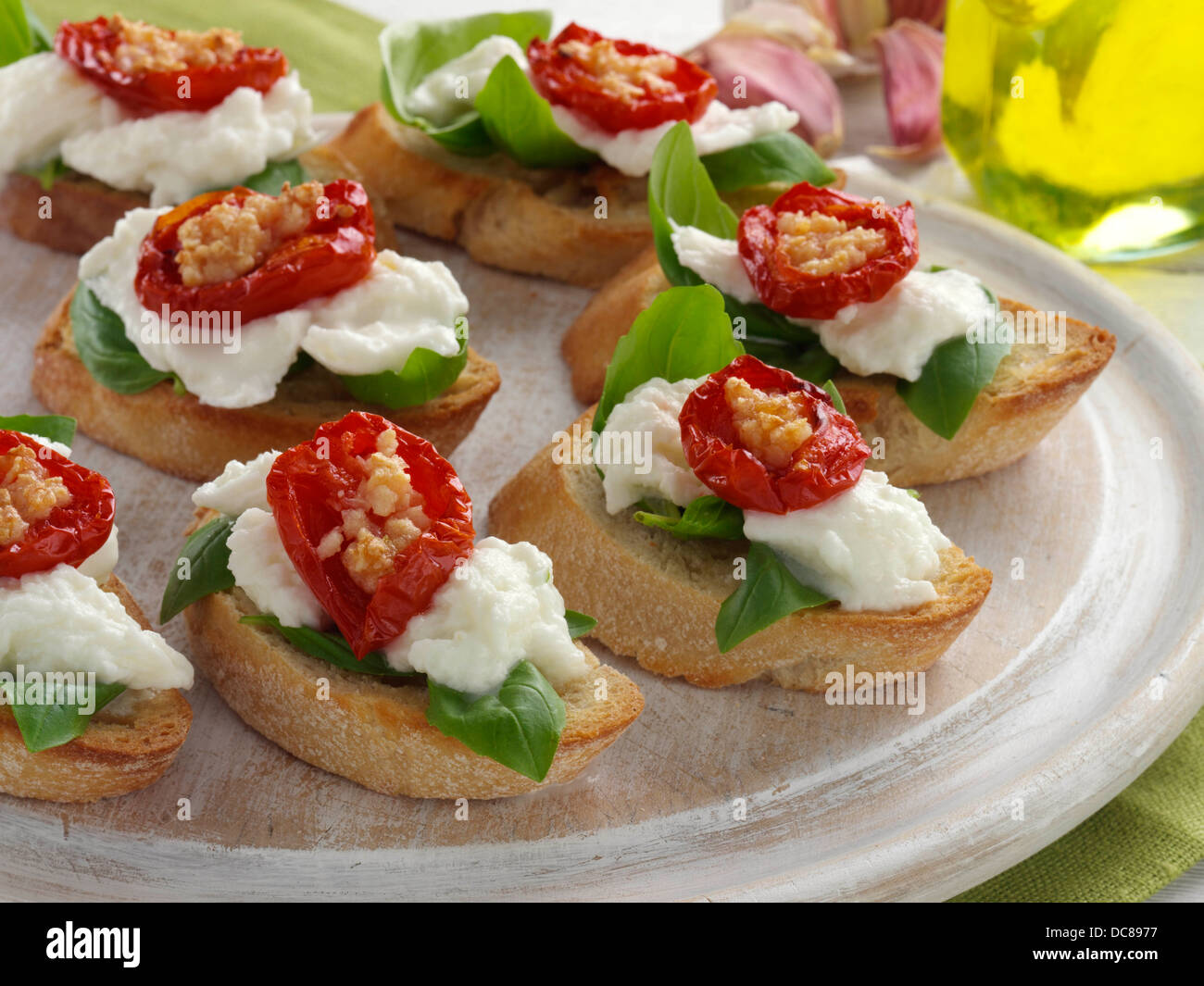 bruschetta italian finger food snacks canapes stock photo 59189851 alamy. Black Bedroom Furniture Sets. Home Design Ideas