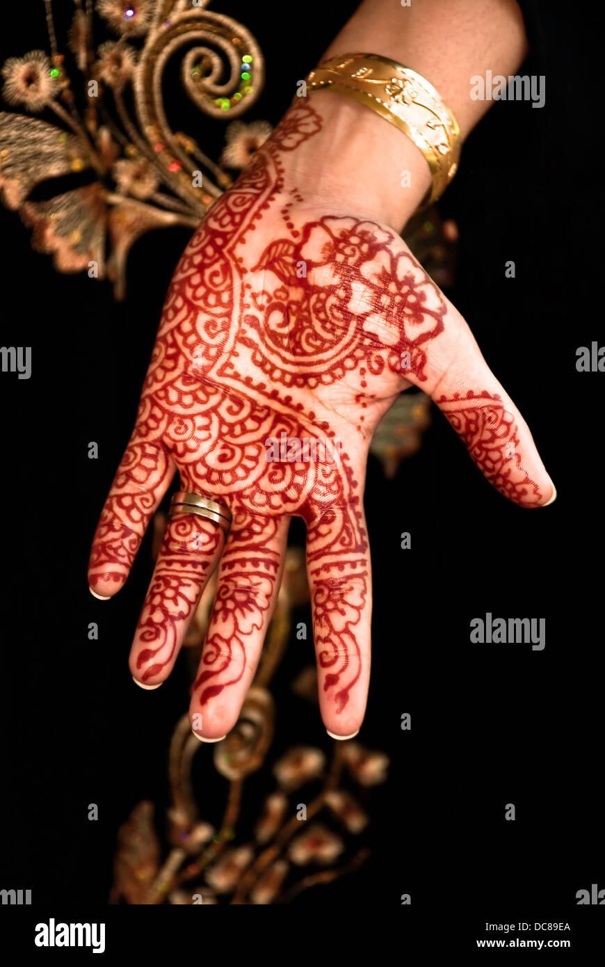 Mehendi Henna Tattoo Hand Design Unique Flower Stock Photo 59190050