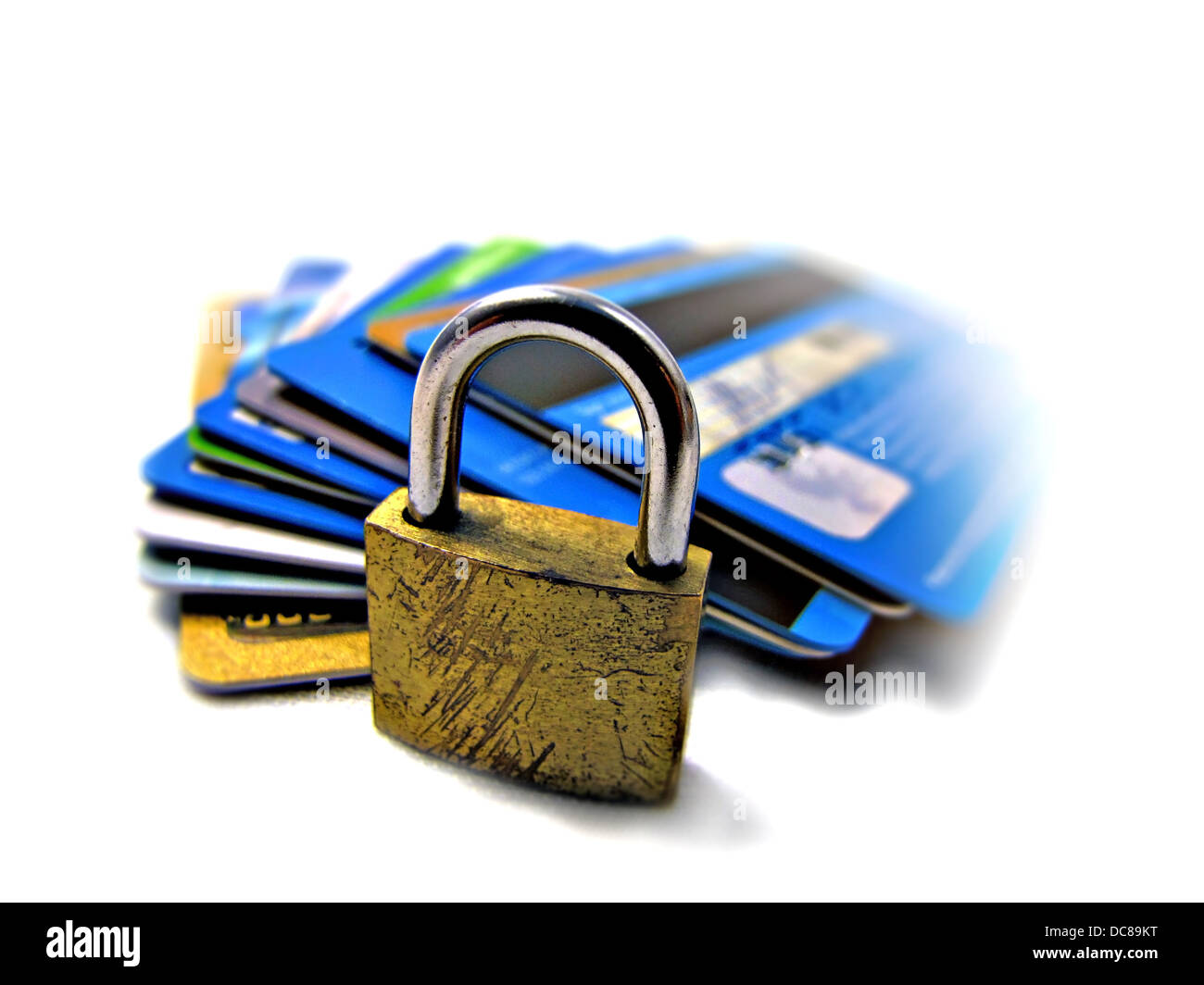Credit card security safety - pin and password - Stock Image