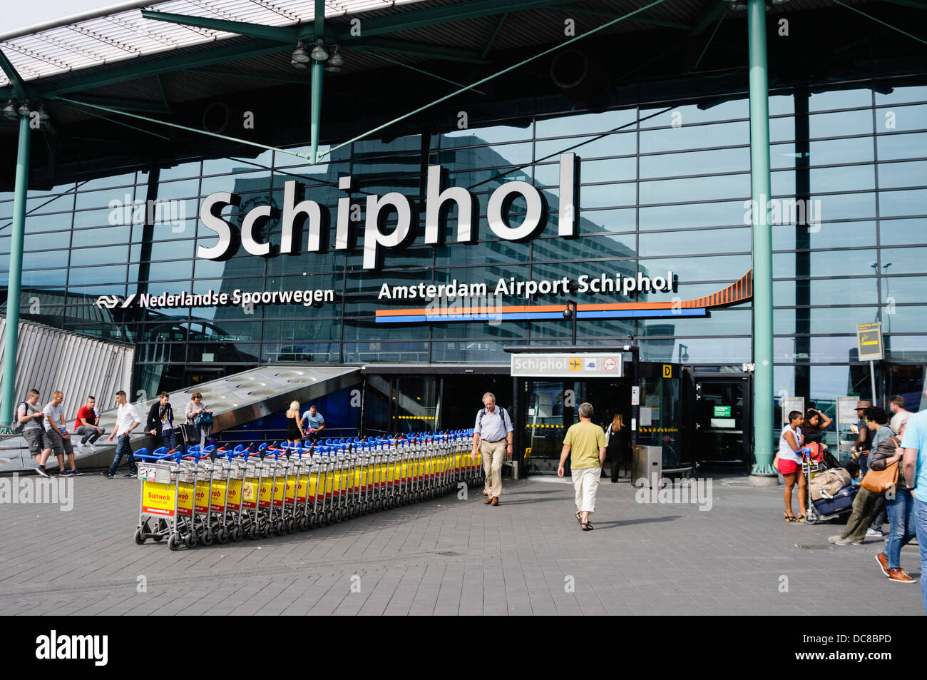 Main entrance to Schiphol airport, Amsterdam - Stock Image