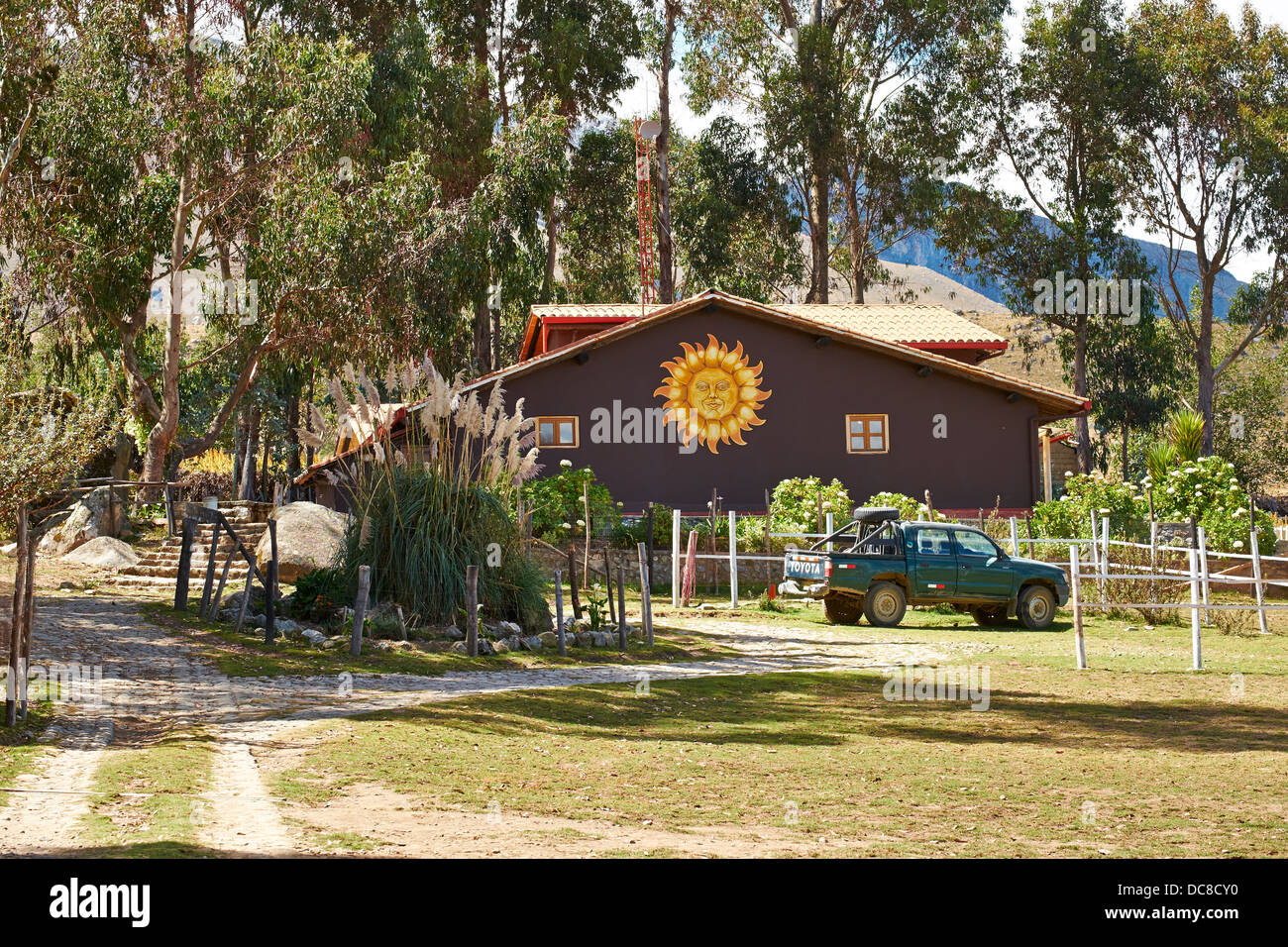 Mountain Retreat in the Peruvian Andes, South America. - Stock Image