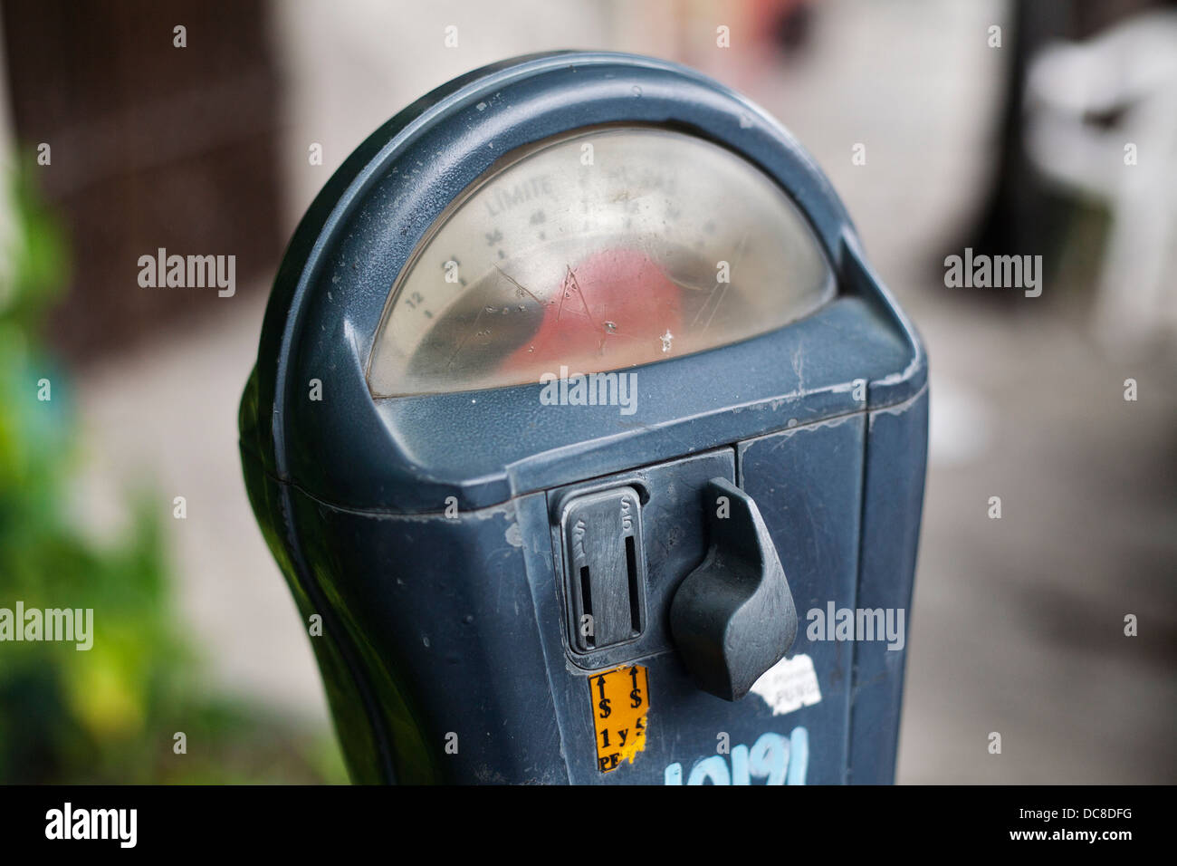 A parking meter in Monterrey, Mexico. - Stock Image