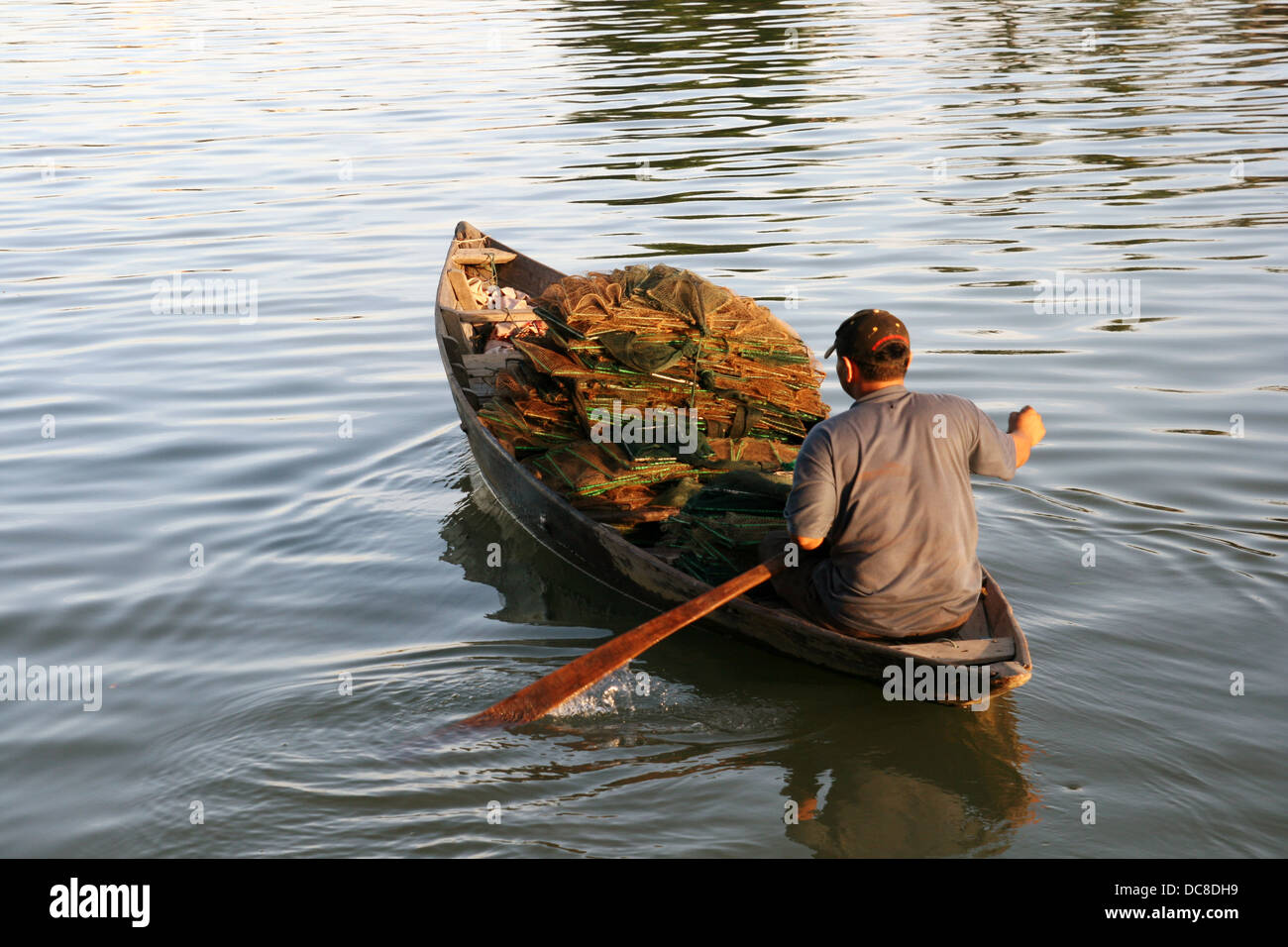 Fisher man in Hoi An, Vietnam - Stock Image