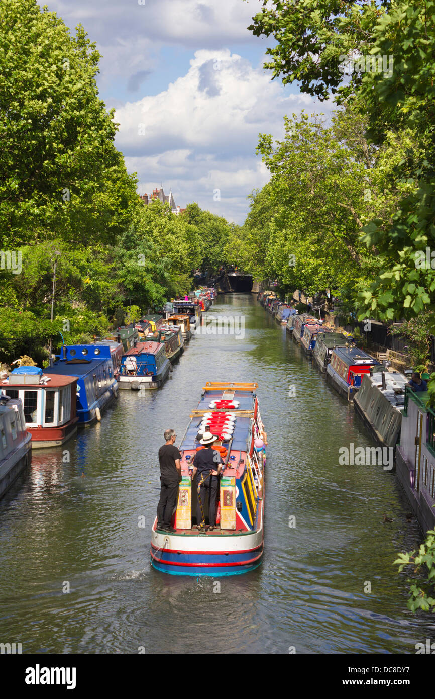 Regent's Canal viewed from Warwick Avenue, London - Stock Image