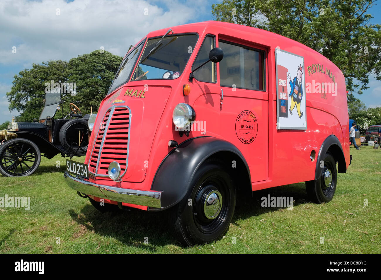 A Royal Mail Morris J type van at the Swaton Vintage Day, Thorpe Latimer, Lincolnshire, England. - Stock Image