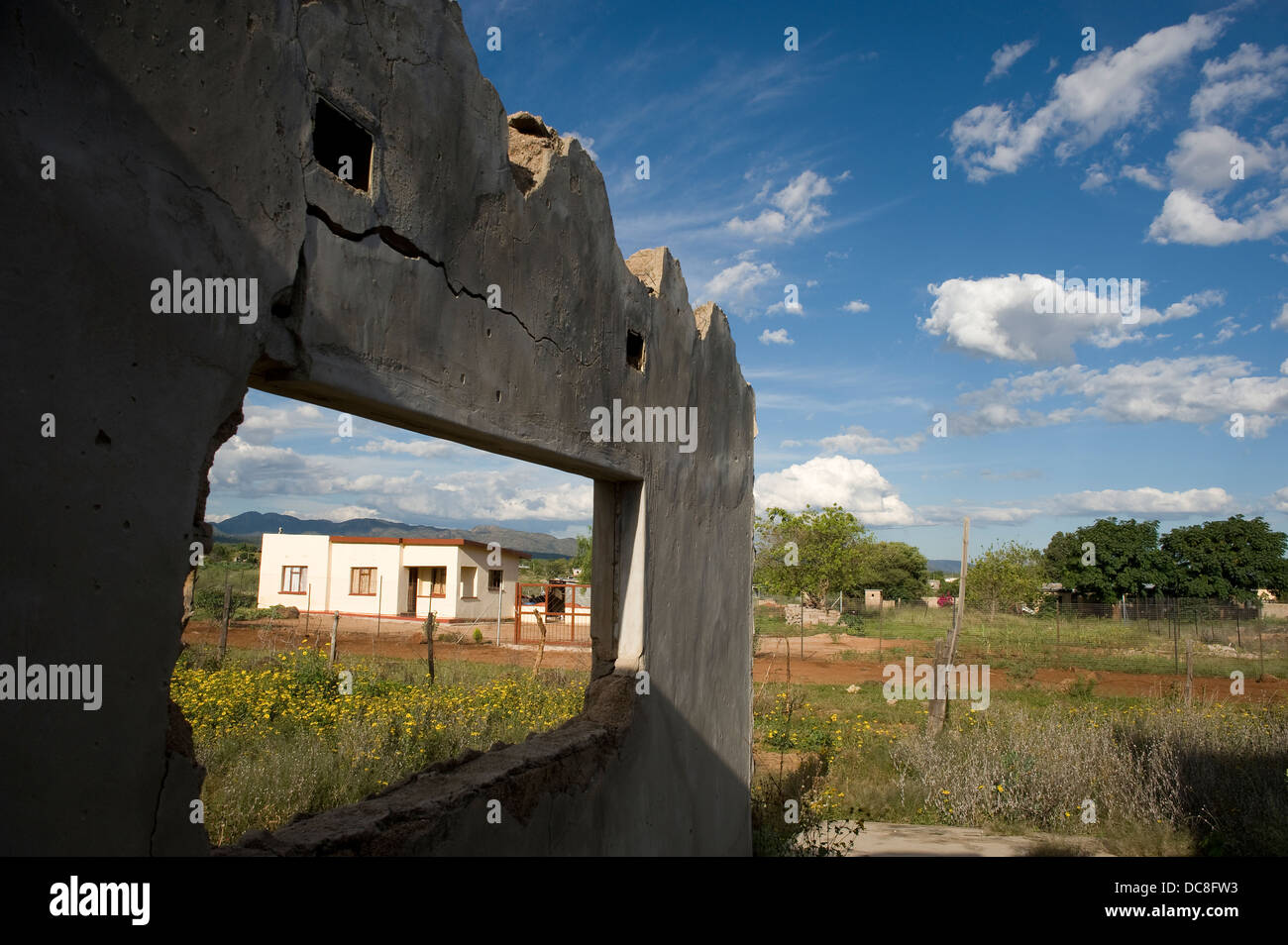 South Africa 2010 Near Makopane 250 km north Johannesburg Some residents Ga-Phila have moved or abandoned their - Stock Image