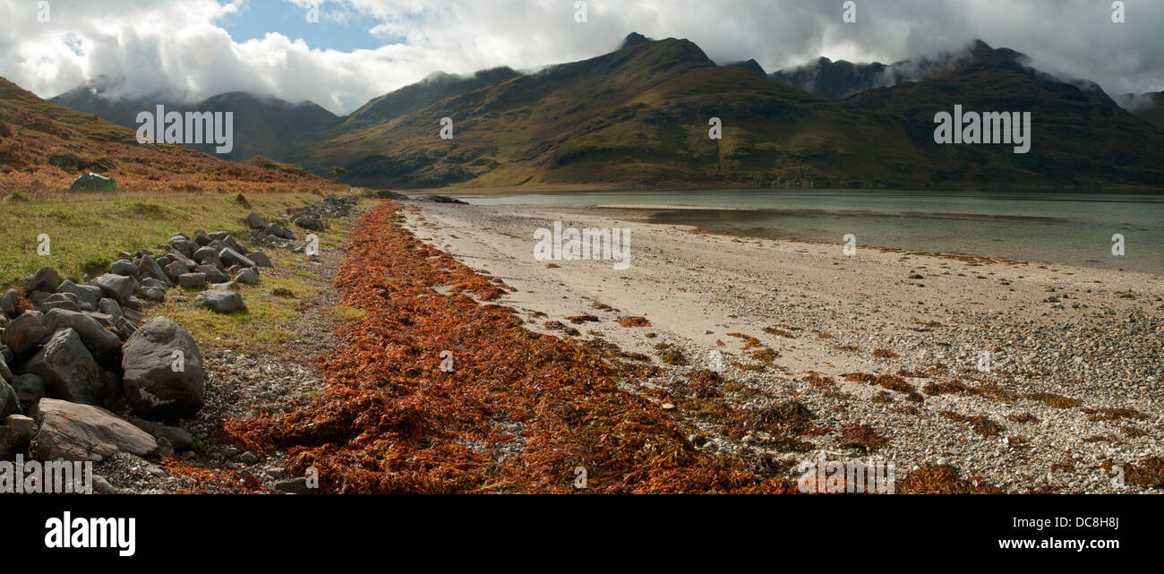 Ladhar Bheinn over Barrisdale Bay on Loch Hourn, Knoydart. Highland region, Scotland, UK Stock Photo